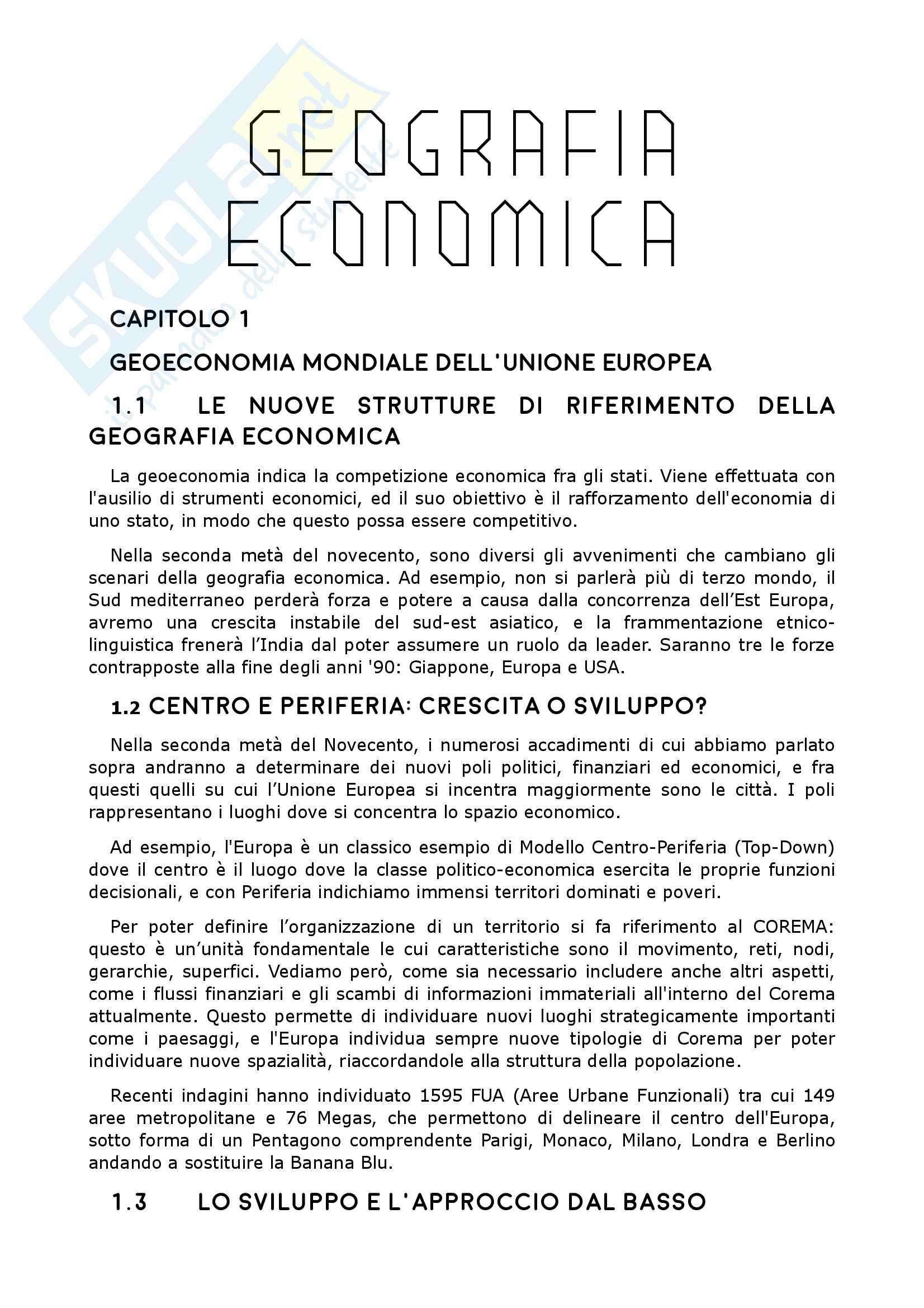 Riassunto esame Geografia economico-politica, prof. Porto, libro consigliato Geografia economica, F. Bencardino M. Prezioso