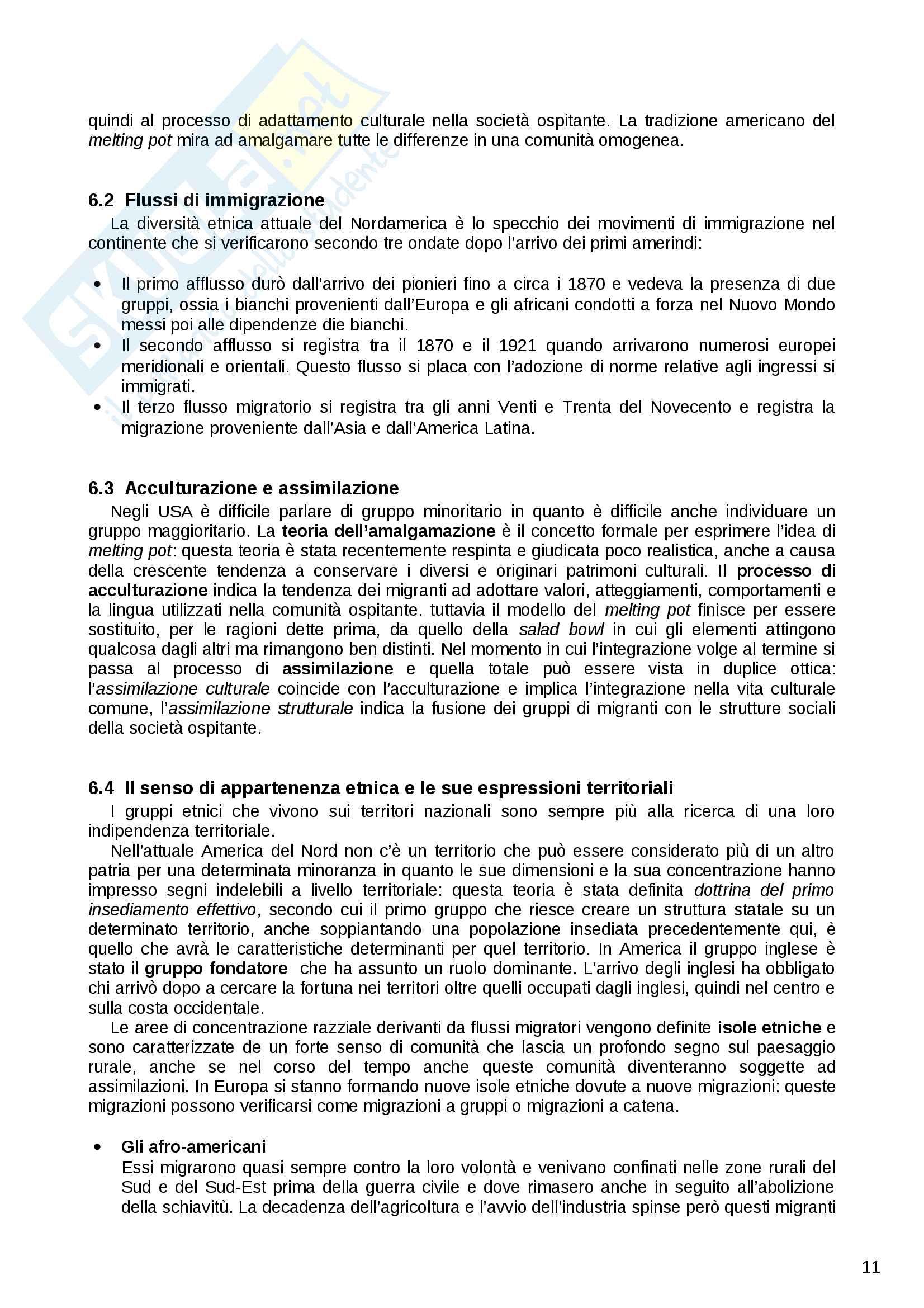 Riassunto esame Geografia Urbana e Regionale, prof. Dino Gavinelli, libro consigliato Geografia umana Pag. 11