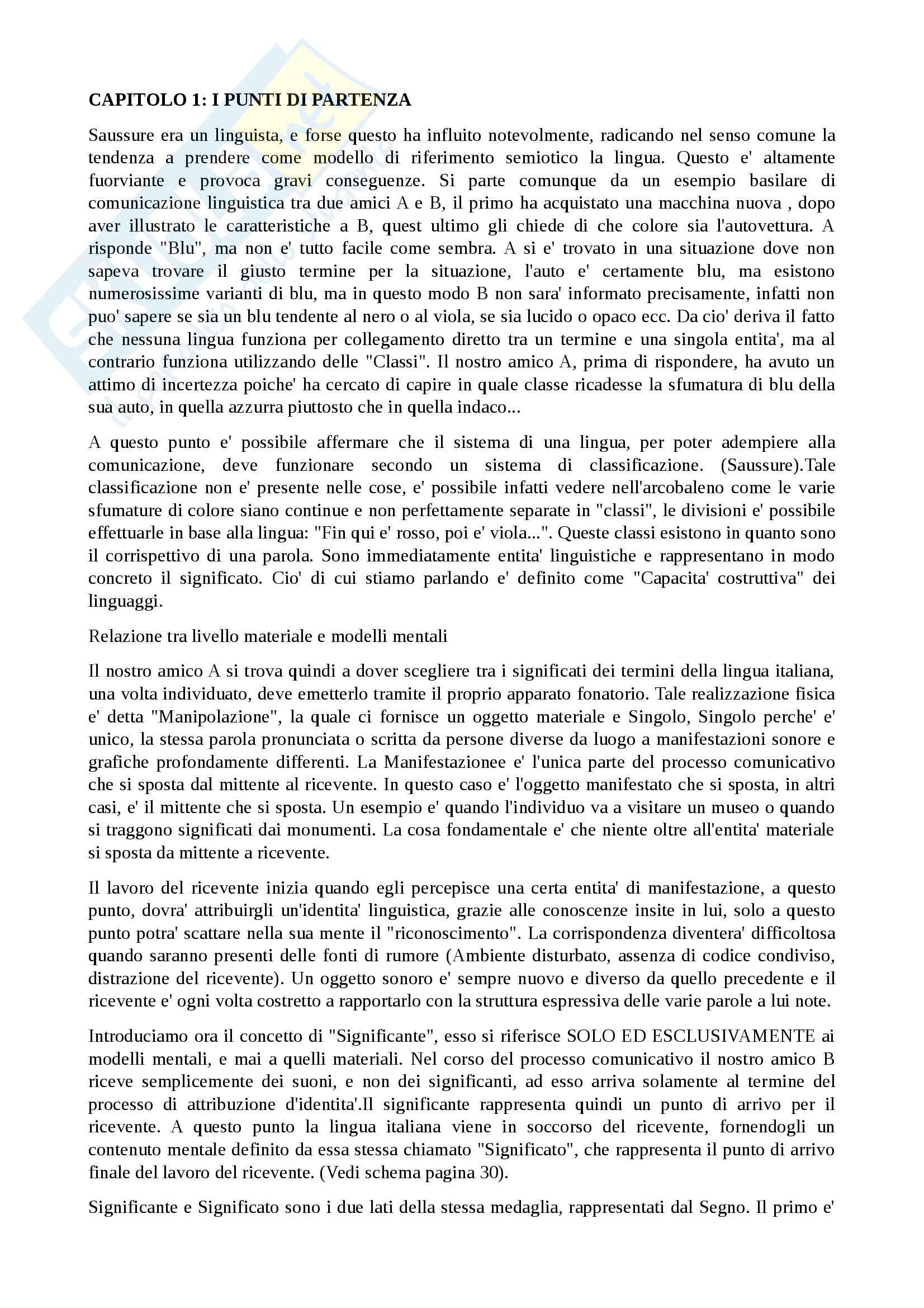 Riassunto esame semiotica, prof. Ferraro, libro consigliato Fondamenti di teoria sociosemiotica, Ferraro
