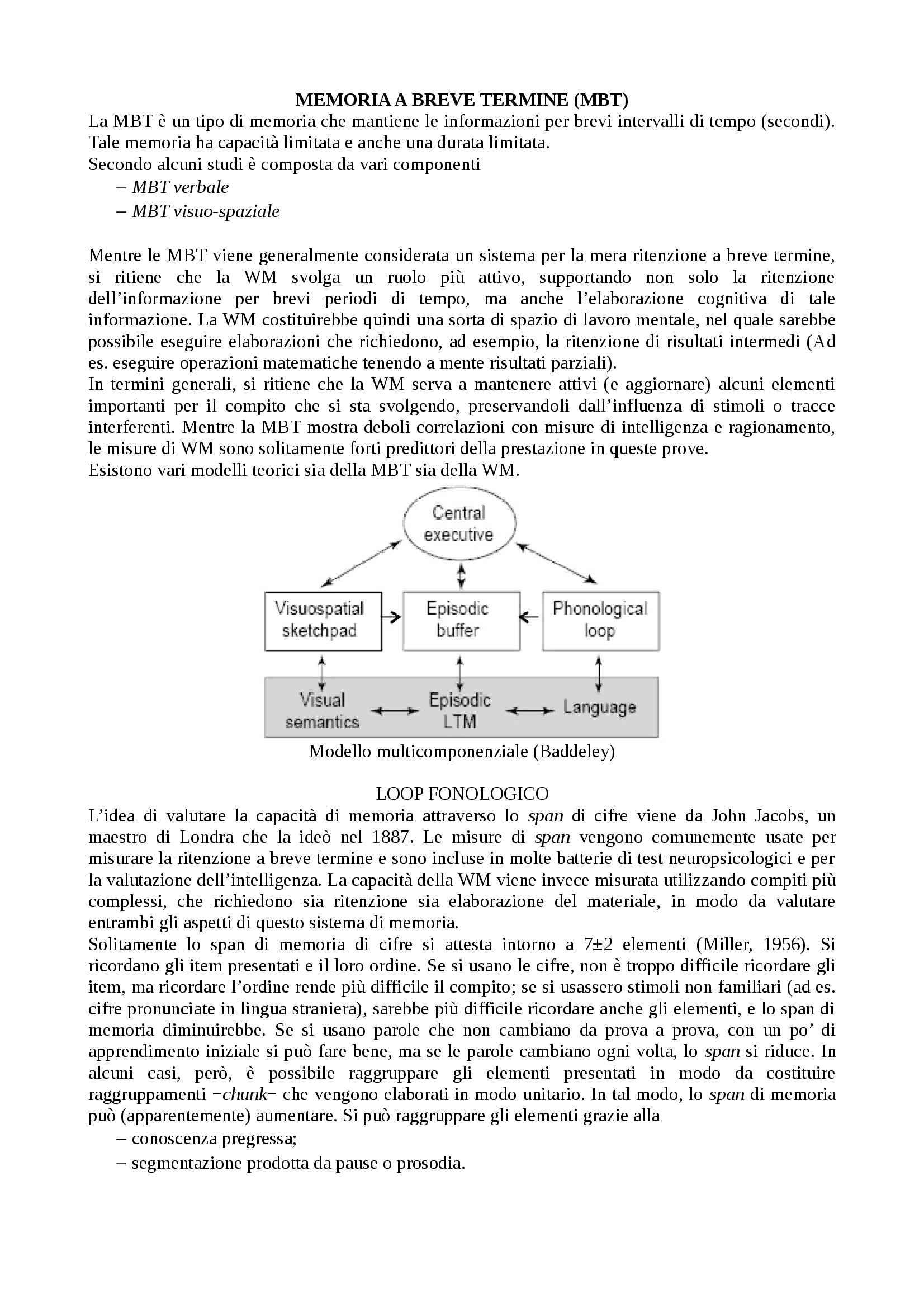 appunto F. Del Missier Processi cognitivi