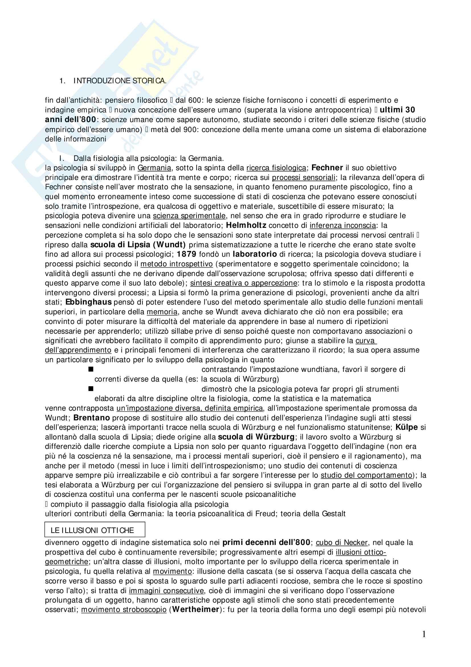 Riassunto esame Psicologia Generale, prof. Marucci, libro consigliato Manuale di Psicologia Generale, Mecacci