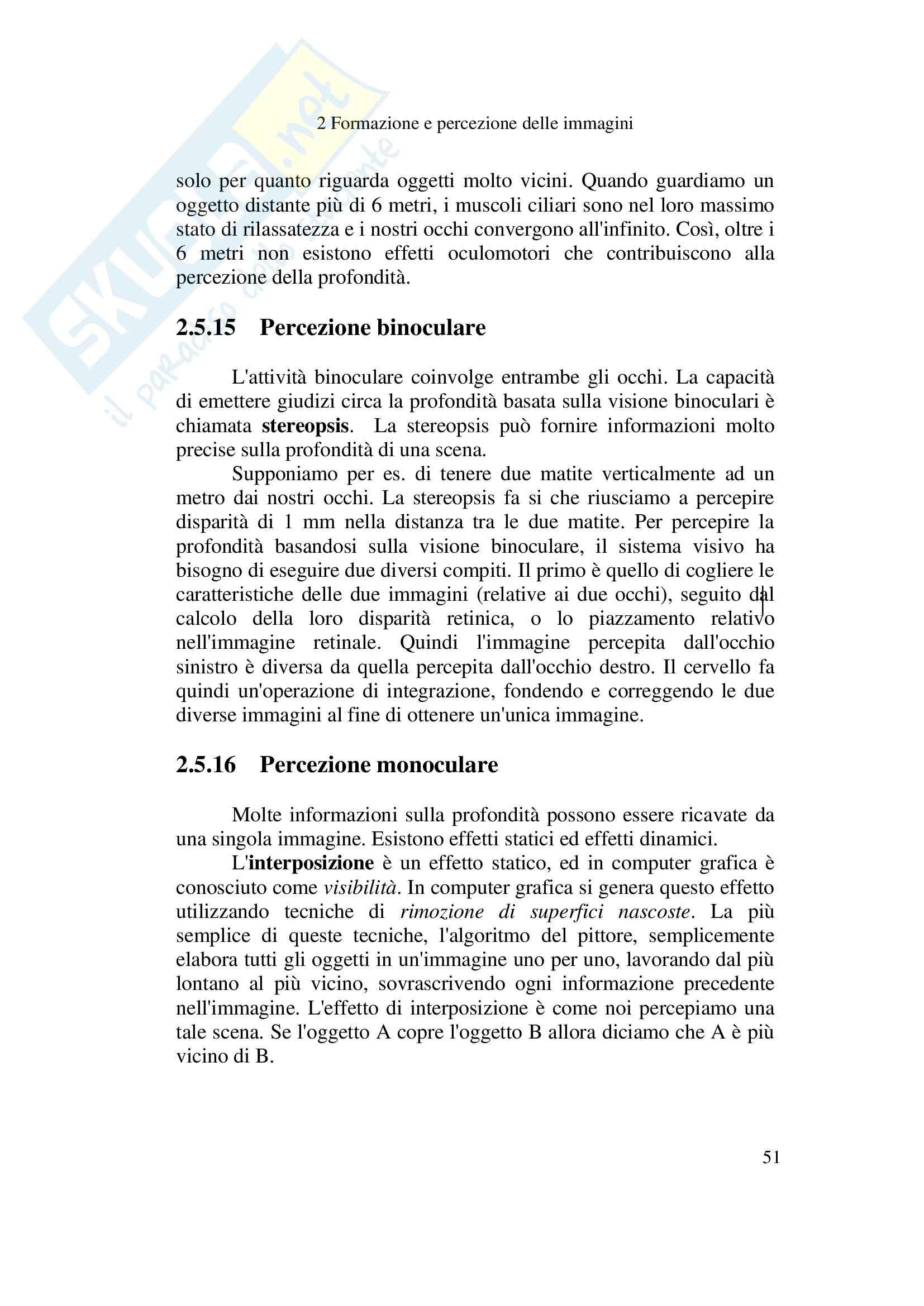 Formazione e percezione delle immagini - Appunti Pag. 51