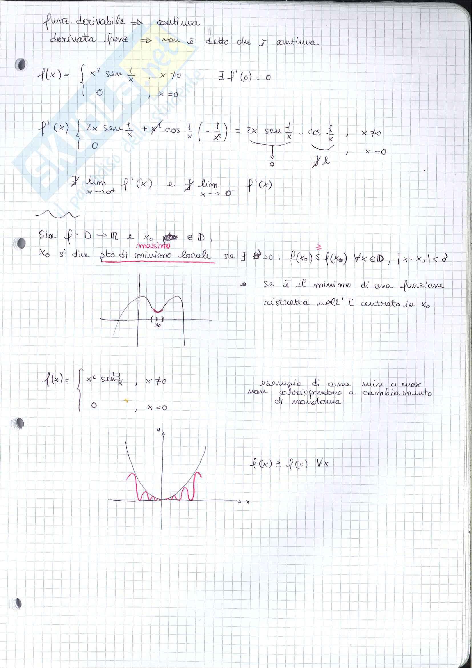 Analisi 1 - appunti seconda parte del programma