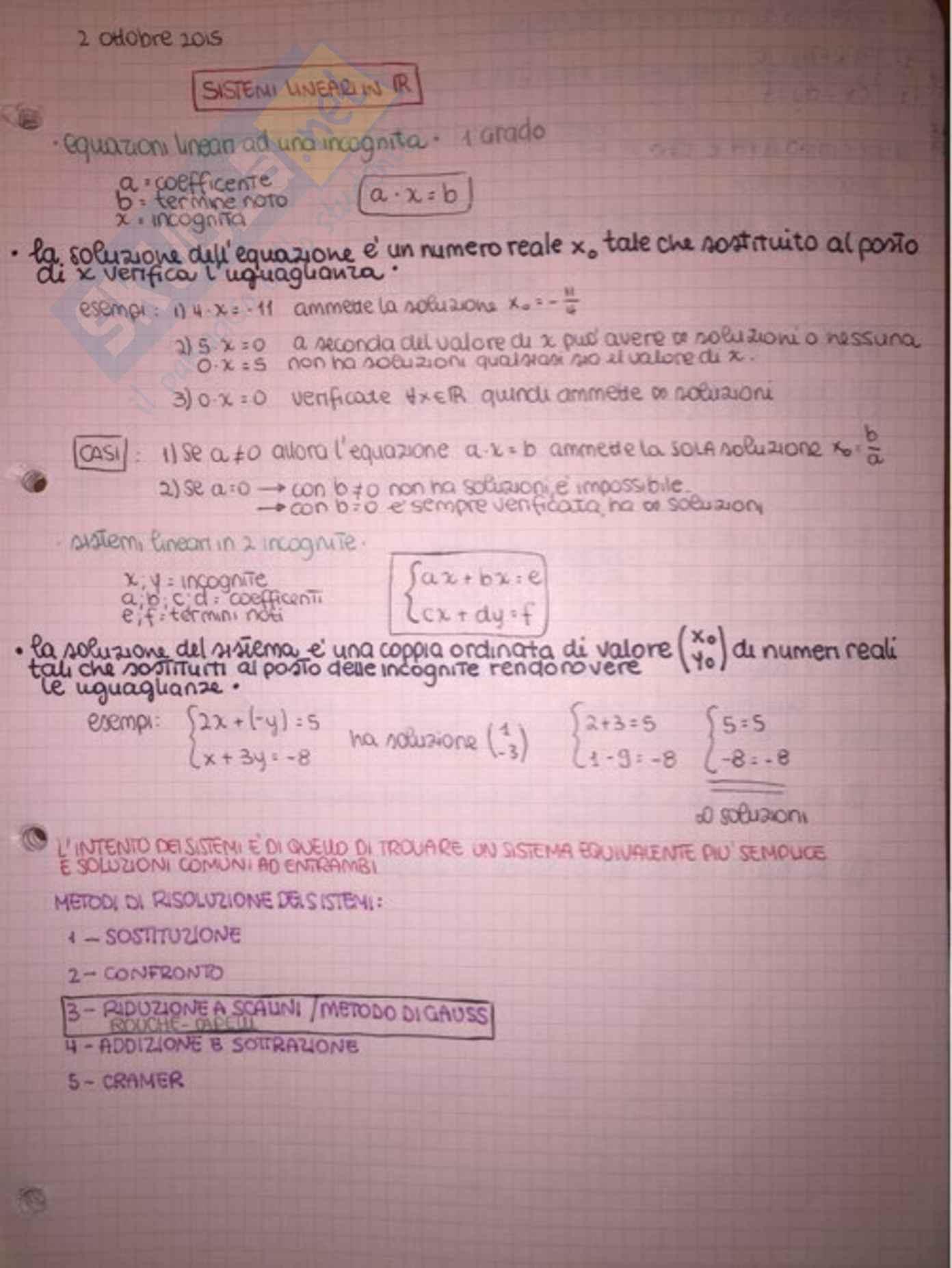 appunto F. Trujillo Geometria e algebra lineare