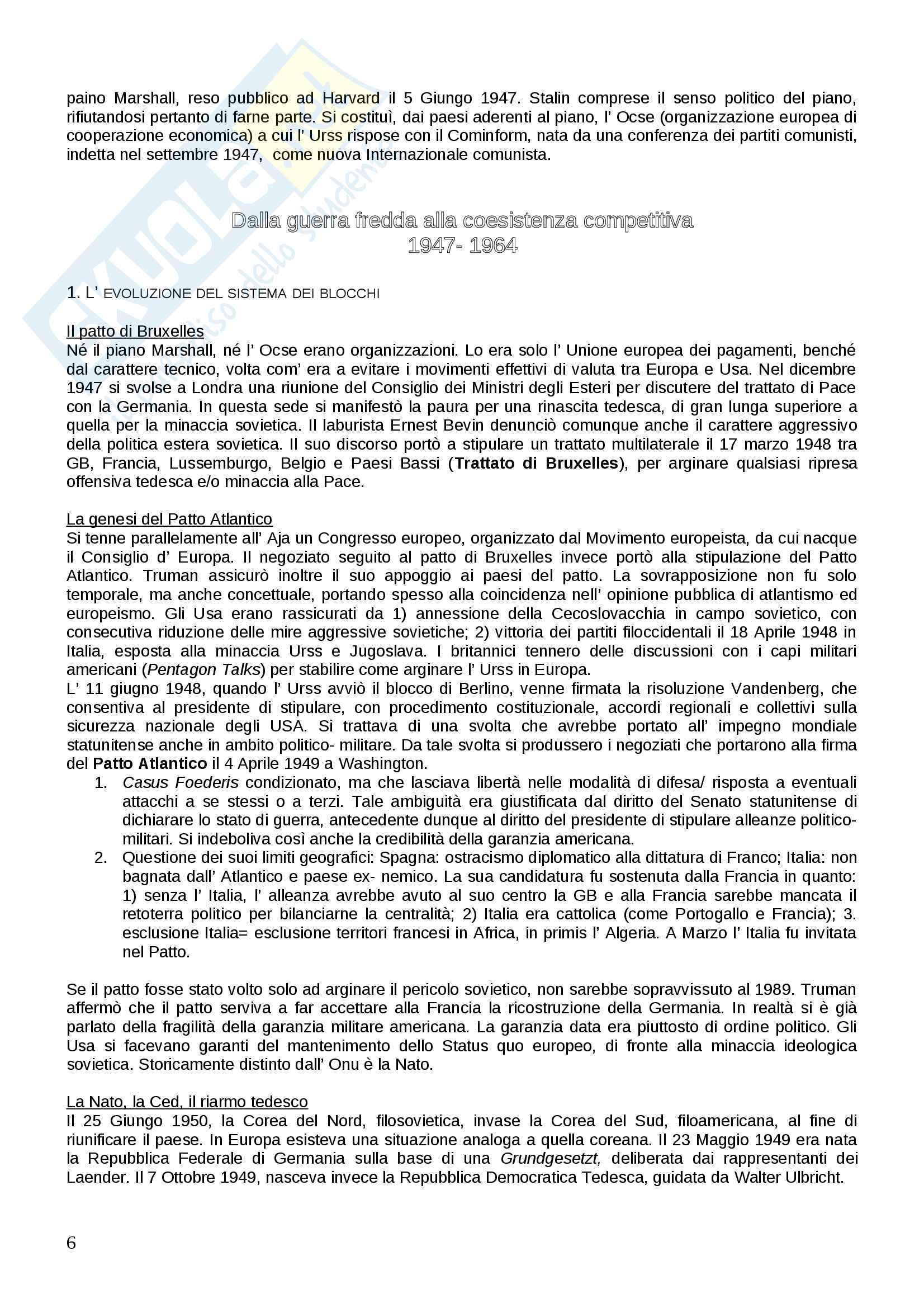 Storia Relazioni Int. dal 1941 a oggi Pag. 6