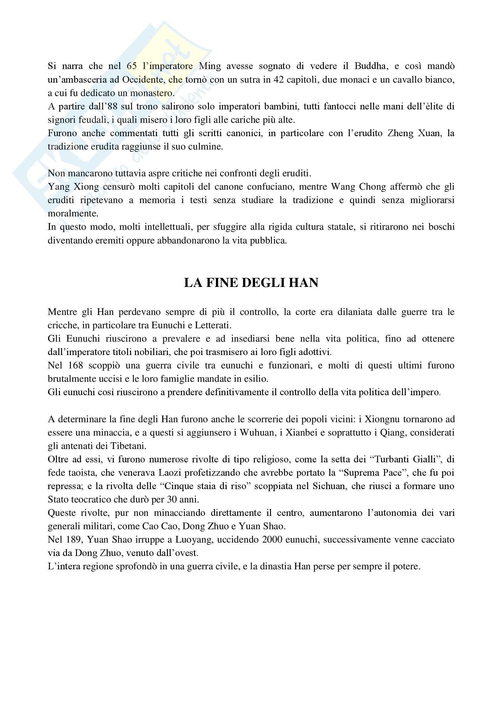 Riassunto esame Storia della Cina, prof. Guida, libro consigliato Cina, una storia millenaria, Vogelsang Pag. 31