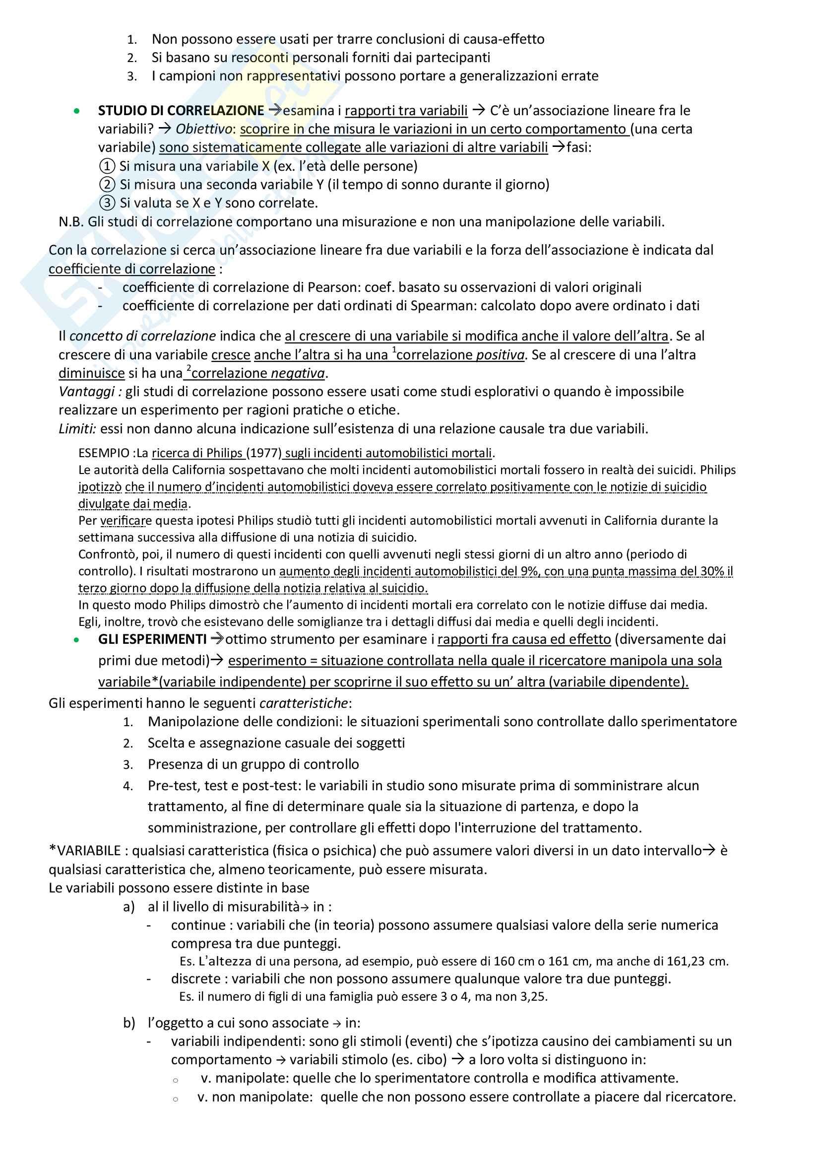 Psicologia generale: riassunto di tutto il materiale per l'esame Pag. 16