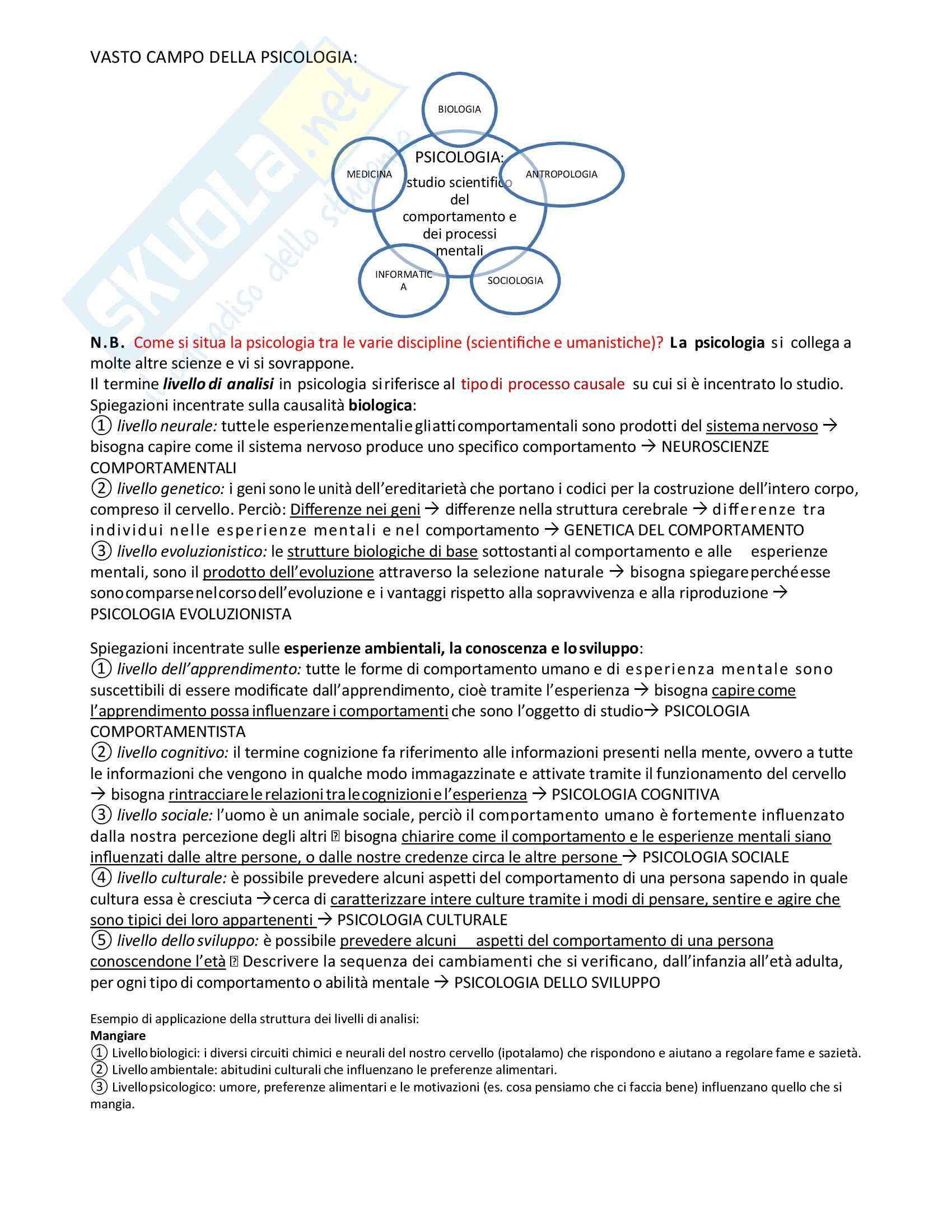Psicologia generale: riassunto di tutto il materiale per l'esame Pag. 2