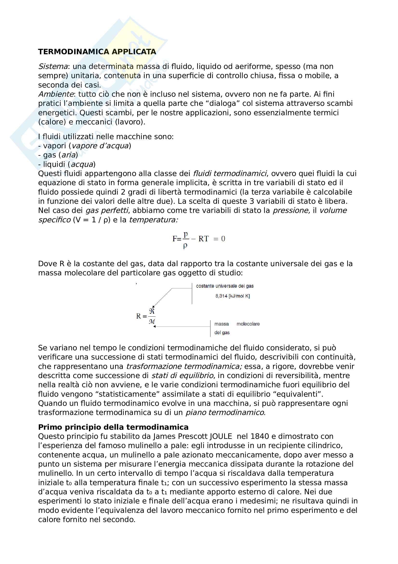 Termodinamica applicata Pag. 1