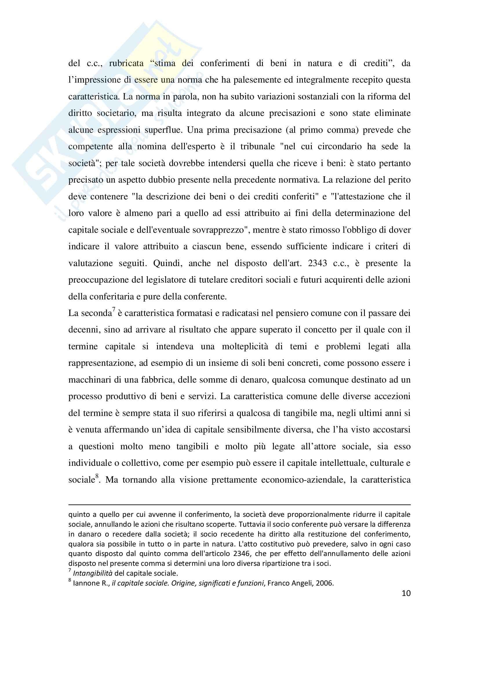 La riduzione del capitale sociale per perdite, Tesi Pag. 11