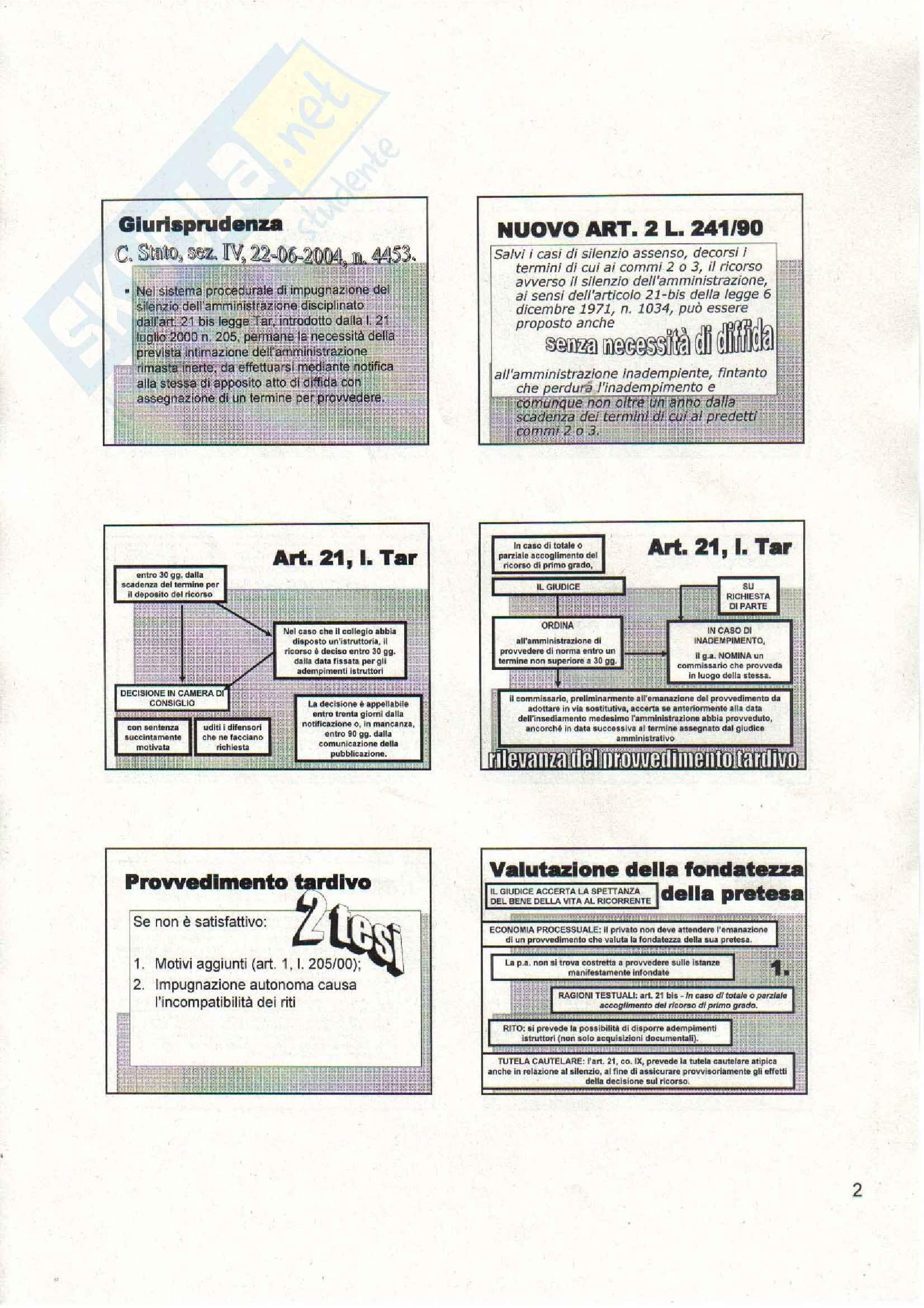 Diritto amministrativo - riti amministrativi speciali - Appunti Pag. 2