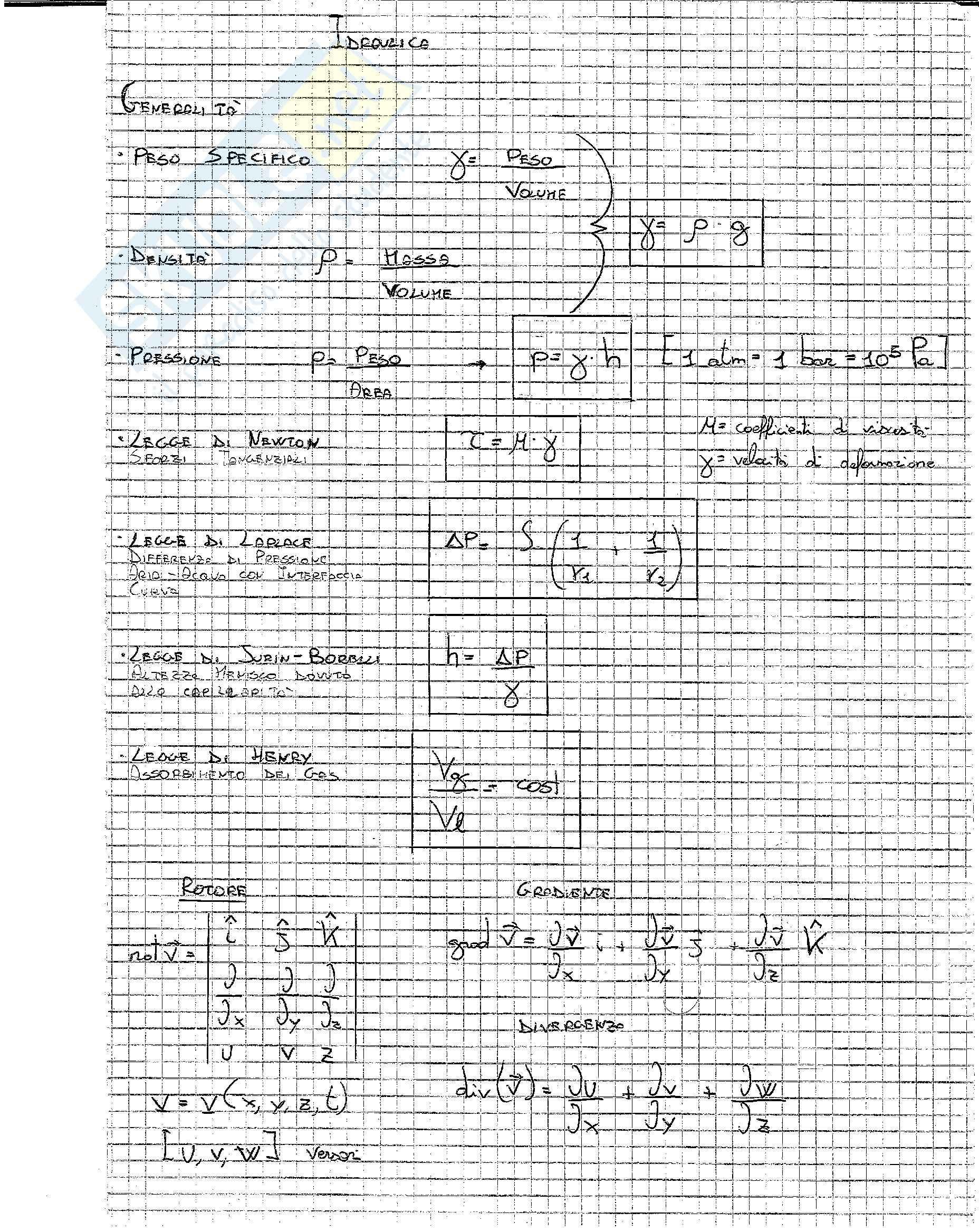 Formulario Idraulica