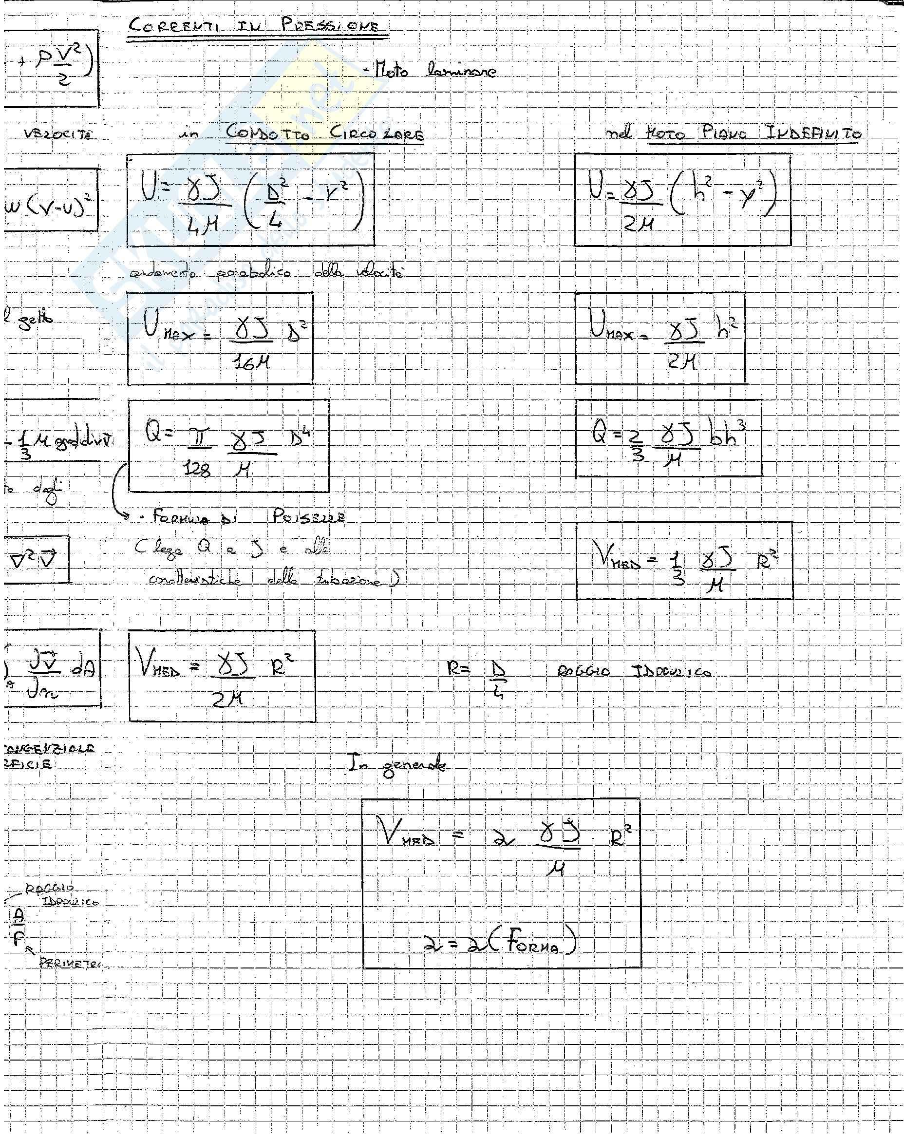 Formulario Idraulica Pag. 11