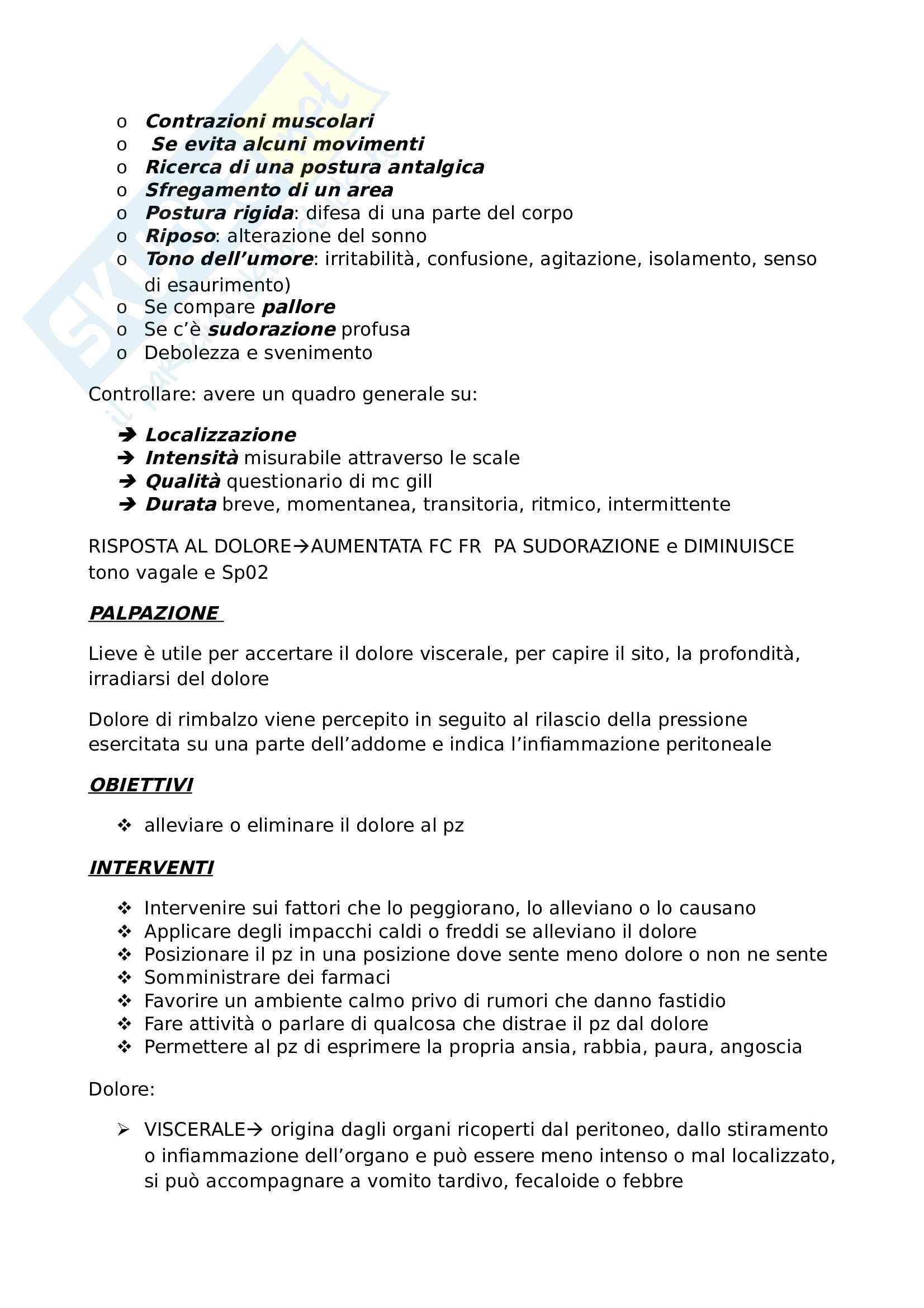 Parametri vitali, accertamenti, obiettivi, interventi e procedure Pag. 6