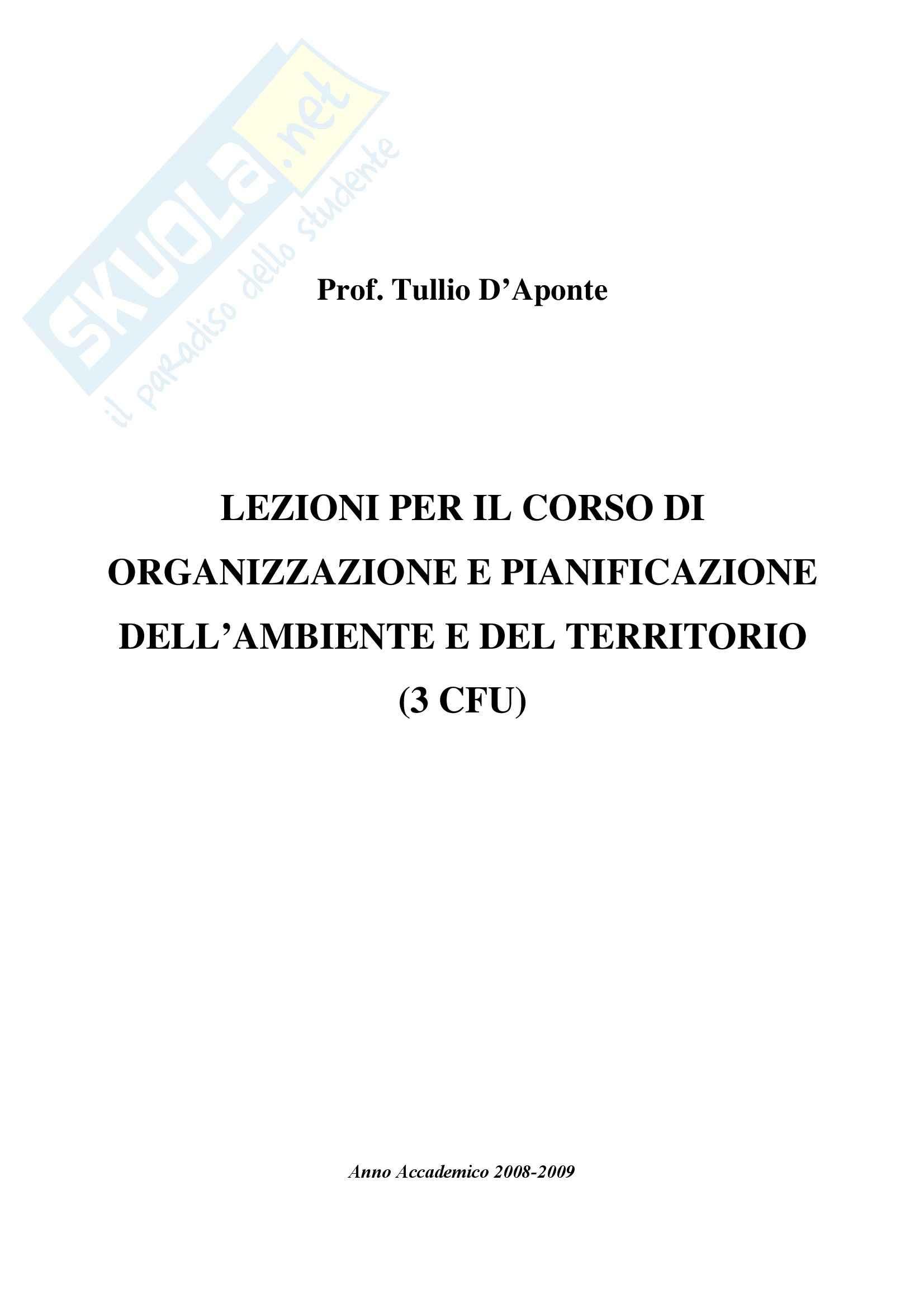 Organizzazione e pianificazione del territorio
