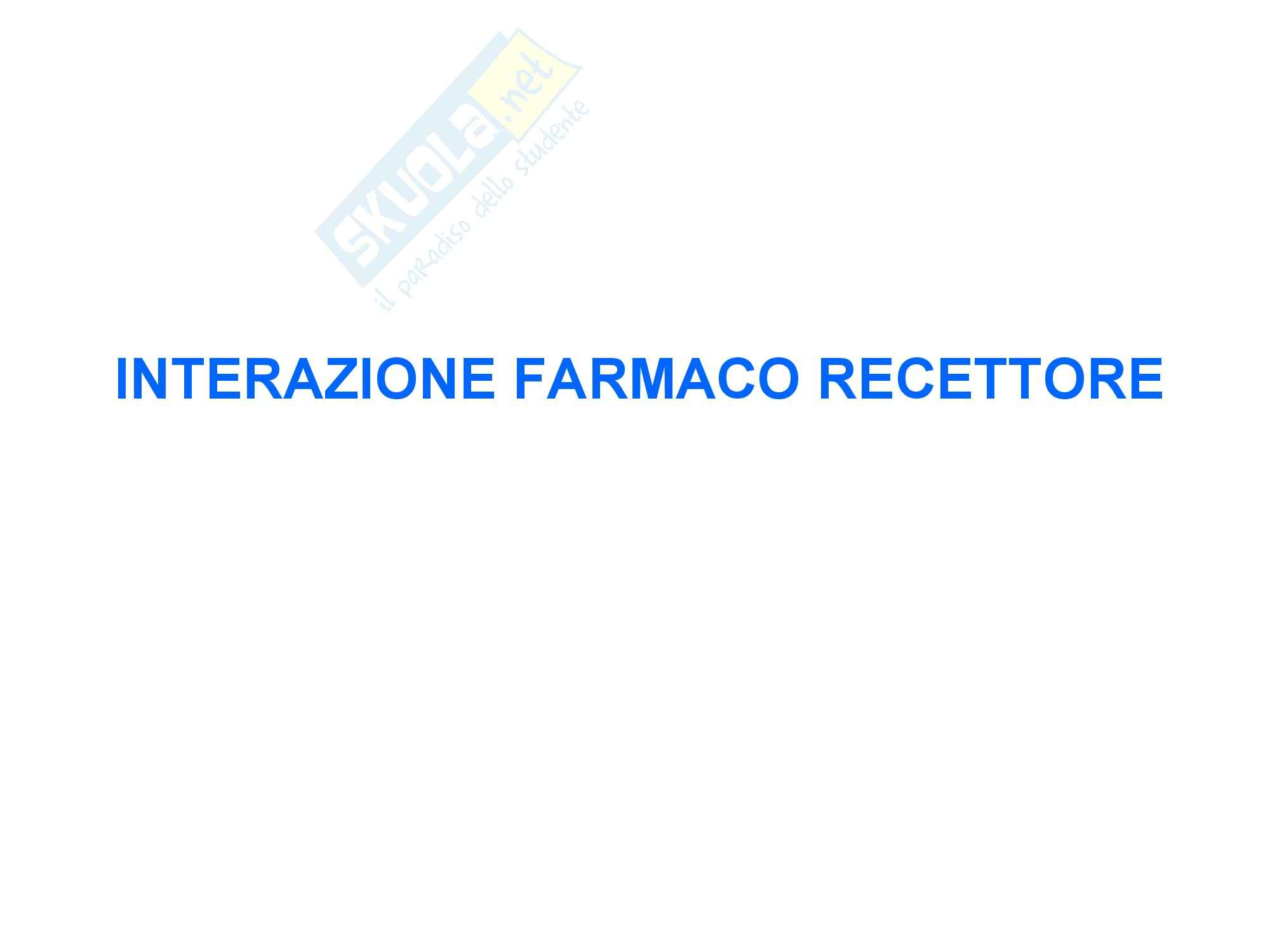 Interazione farmaco recettore