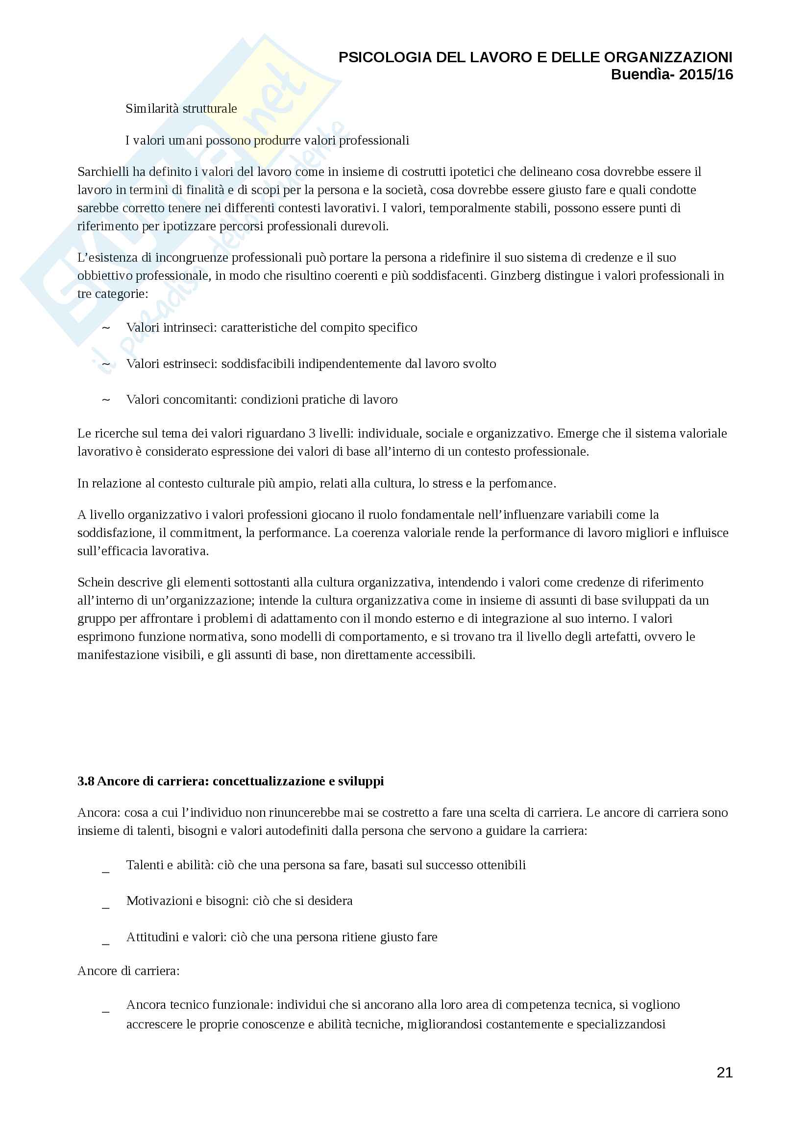 Riassunto esame psicologia del lavoro, prof Luca Vecchio, libro consigliato Psicologia del lavoro e delle organizzazioni, Ashleigh Pag. 21