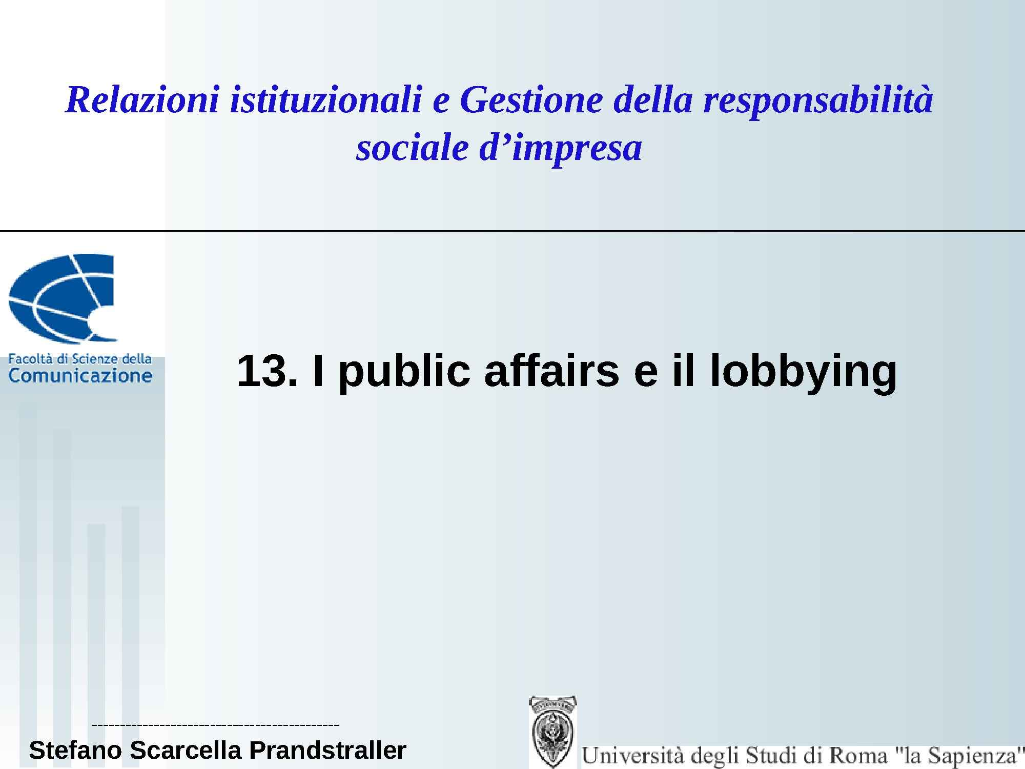 Public affairs e lobbying