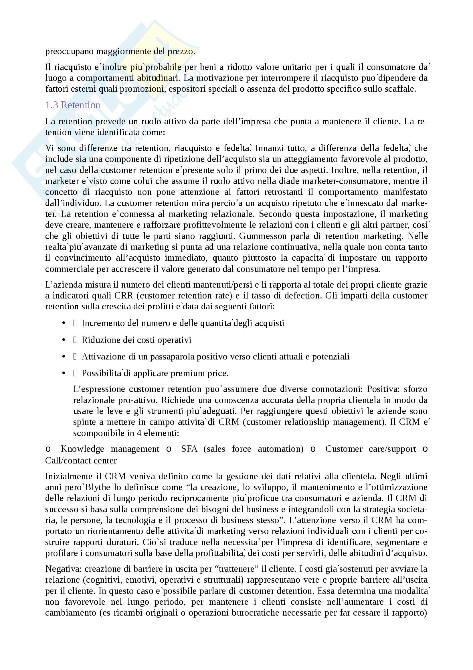 Riassunto esame Marketing, prof. Cavallone, libro consigliato Il Tes Marketing, Cavallone Pag. 6