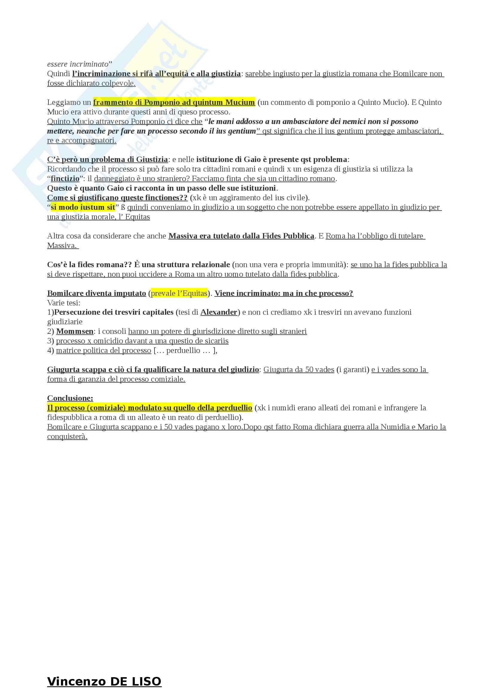 Riassunto esame Storia del Diritto Romano, prof. Cascione, libro consigliato Quesitor Urnam Movet, Masi Doria Pag. 6