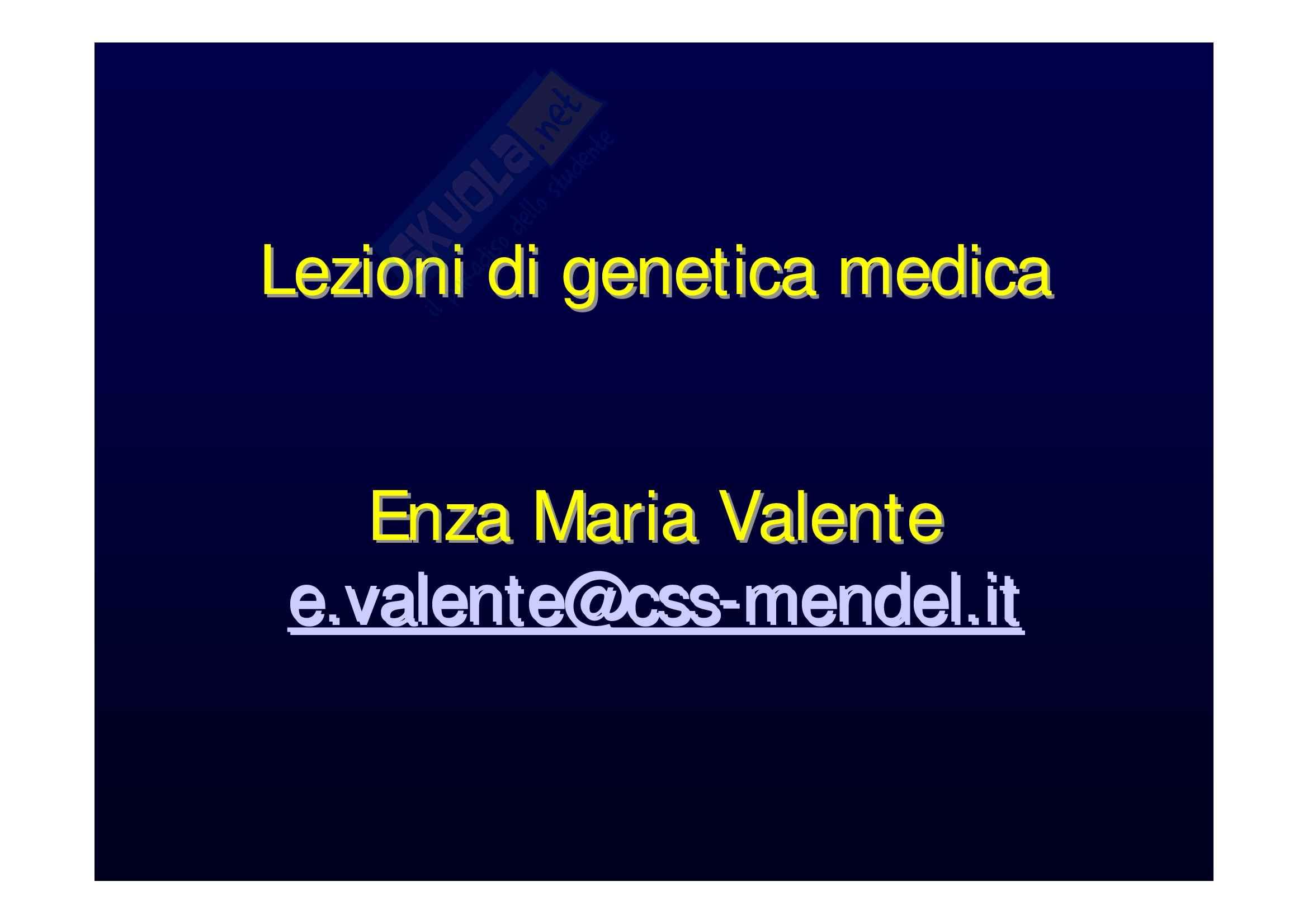 appunto E. Valente Genetica medica