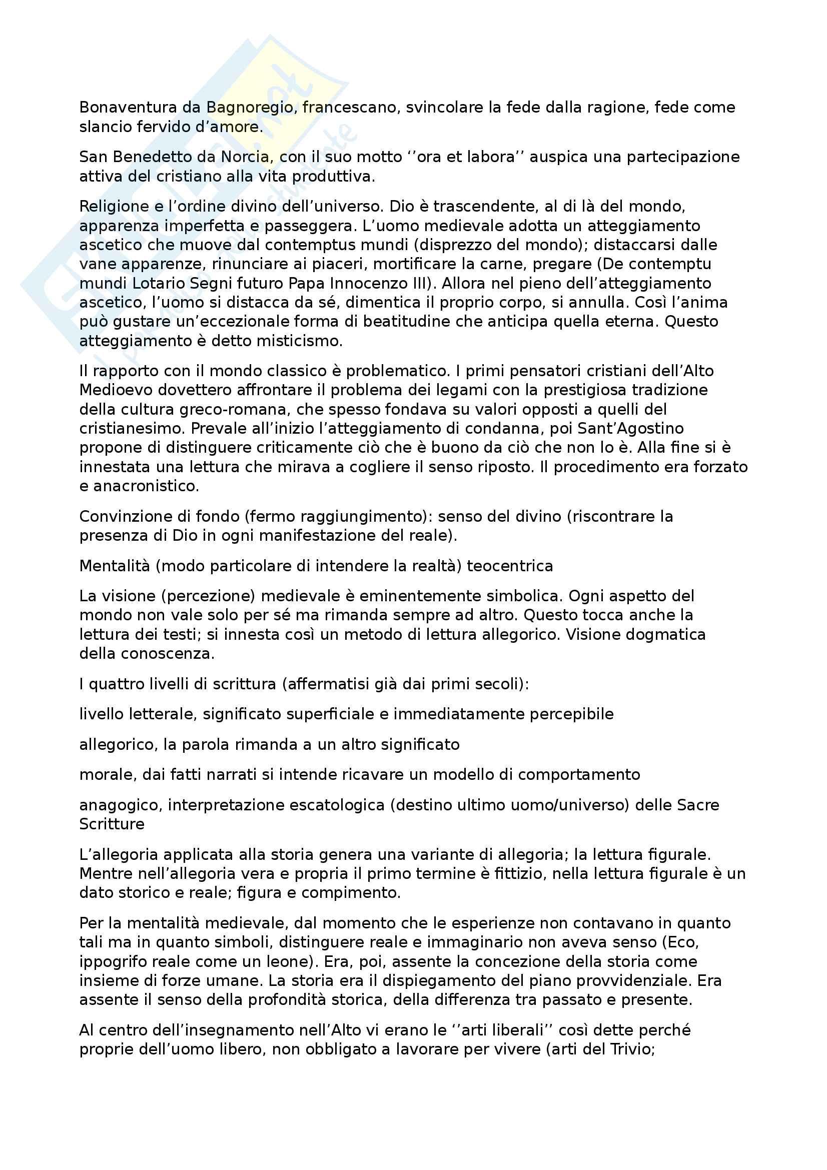 Riassunto esame letteratura italiana, prof. Battistini, libro consigliato Il piacere dei testi, Baldi (1, 2, 3, 4, 5) Pag. 2