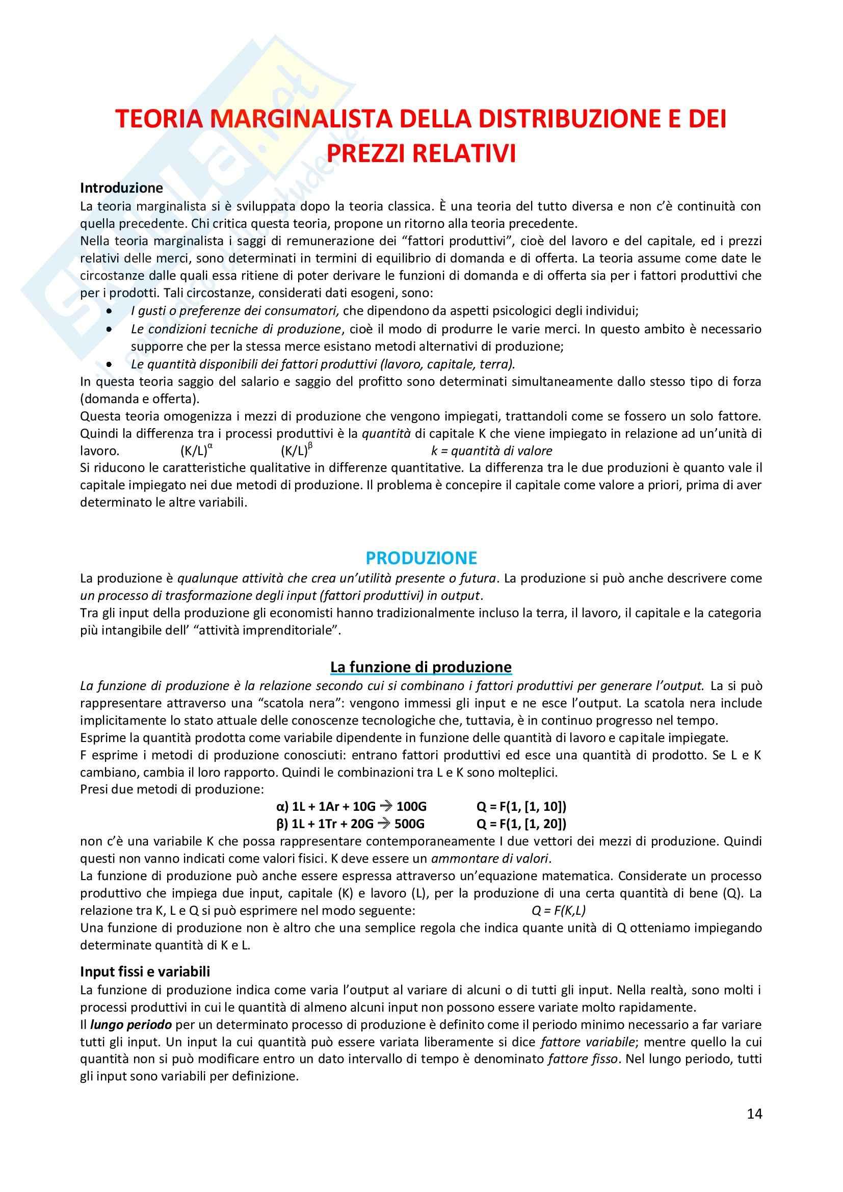 Appunti microeconomia prof Ciccone