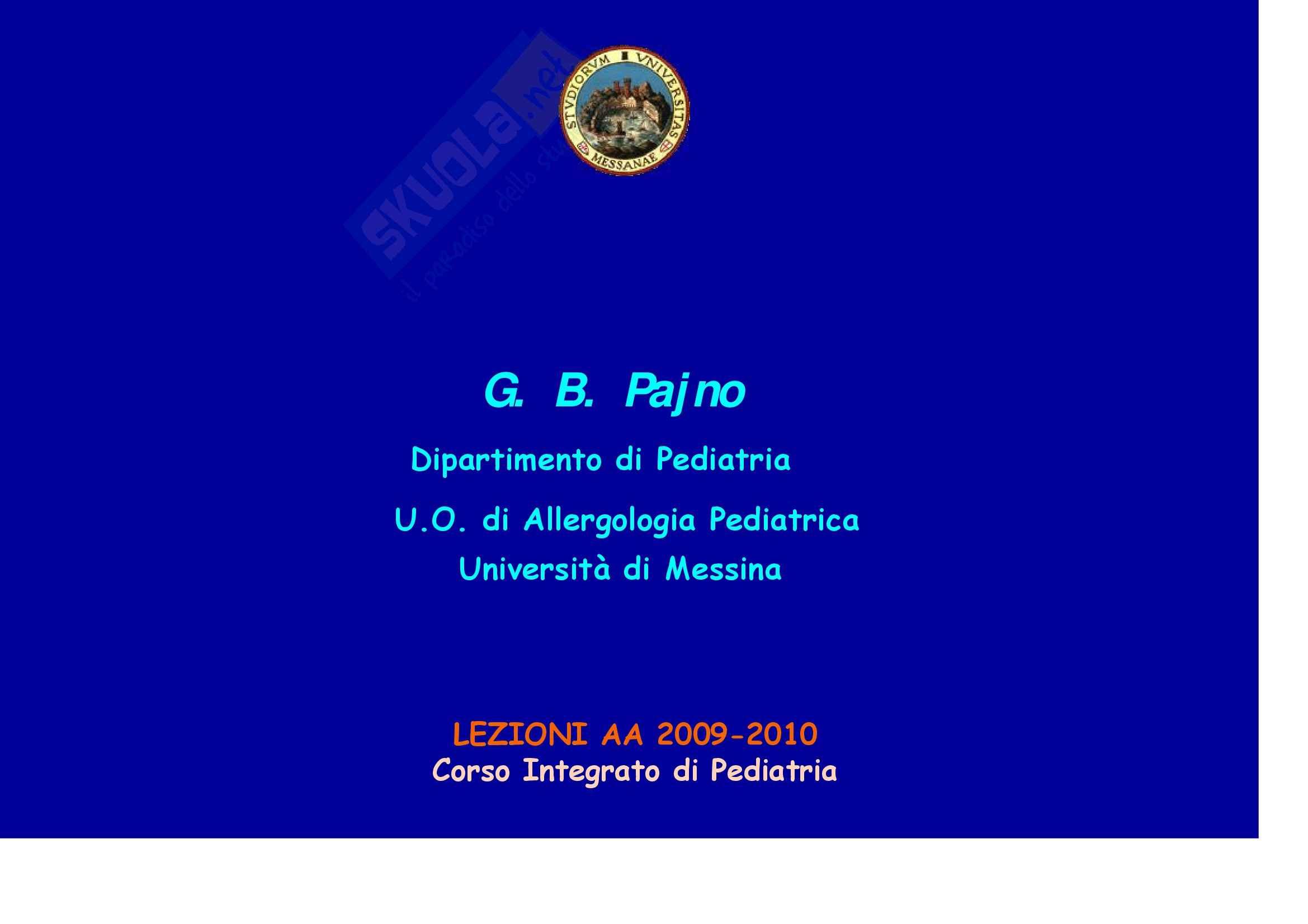 Scienze pediatriche mediche e chirurgiche - Asma