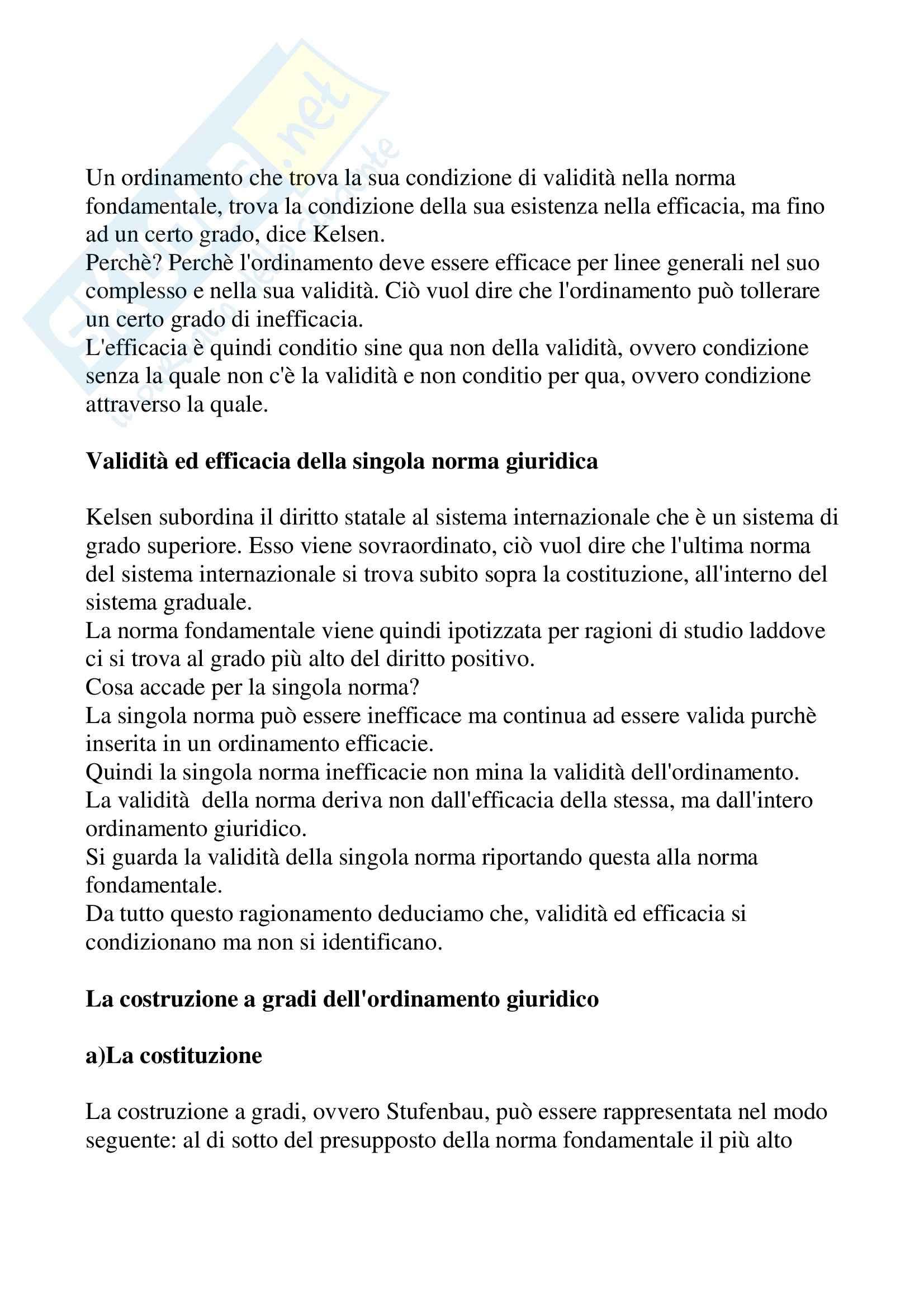Filosofia del diritto - Kelsen Pag. 16