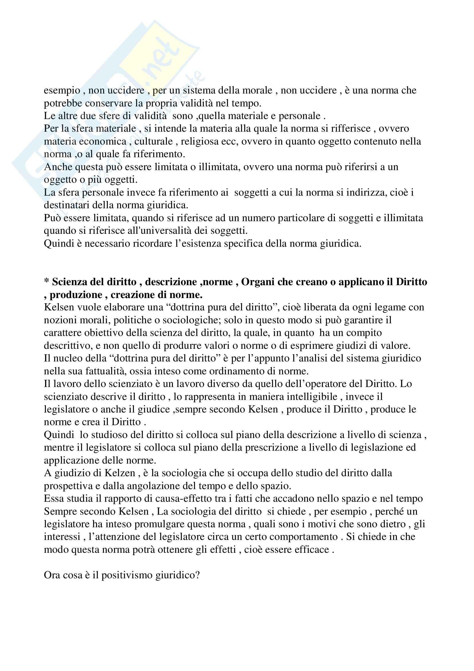 Filosofia del diritto - Kelsen Pag. 2