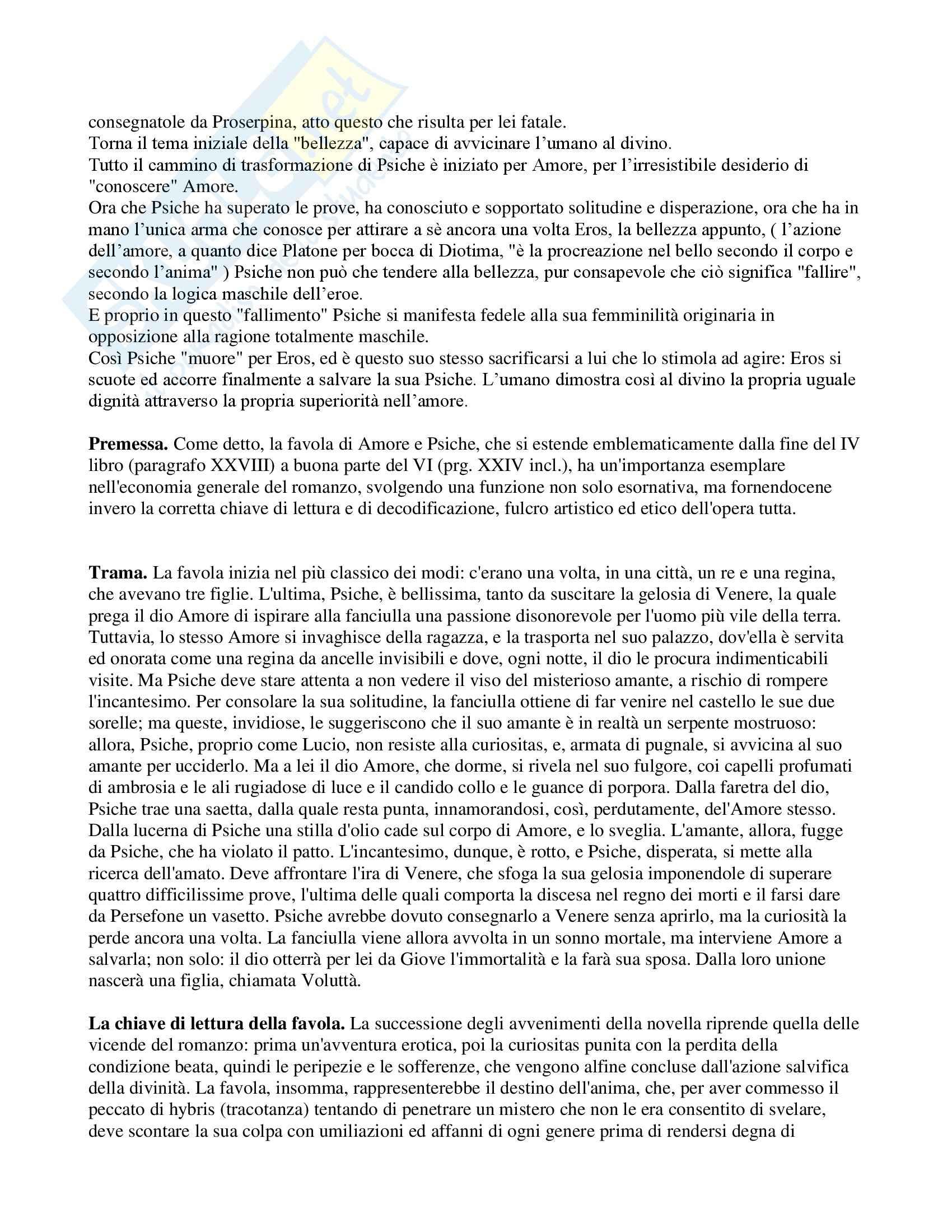 Latino - Amore e Psiche - analisi Pag. 2