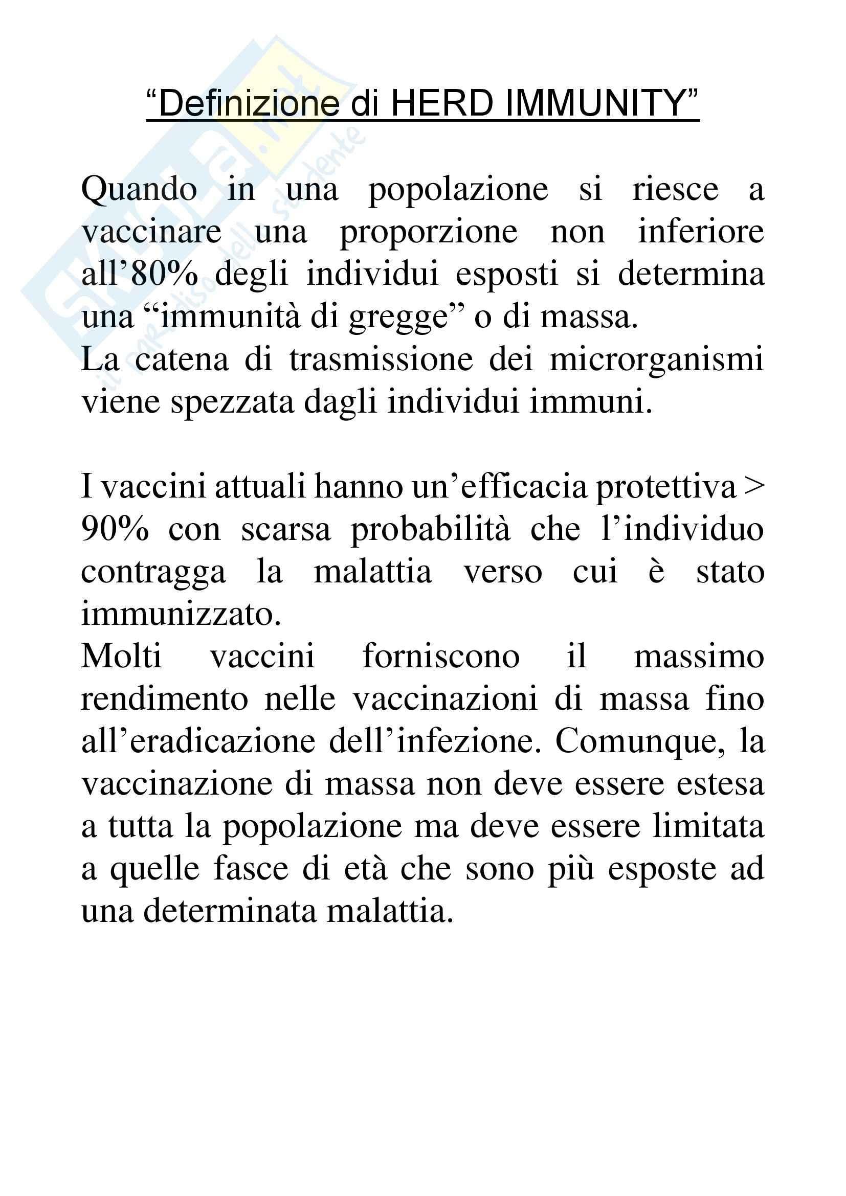 Pediatria - definizione di Herd Immunity