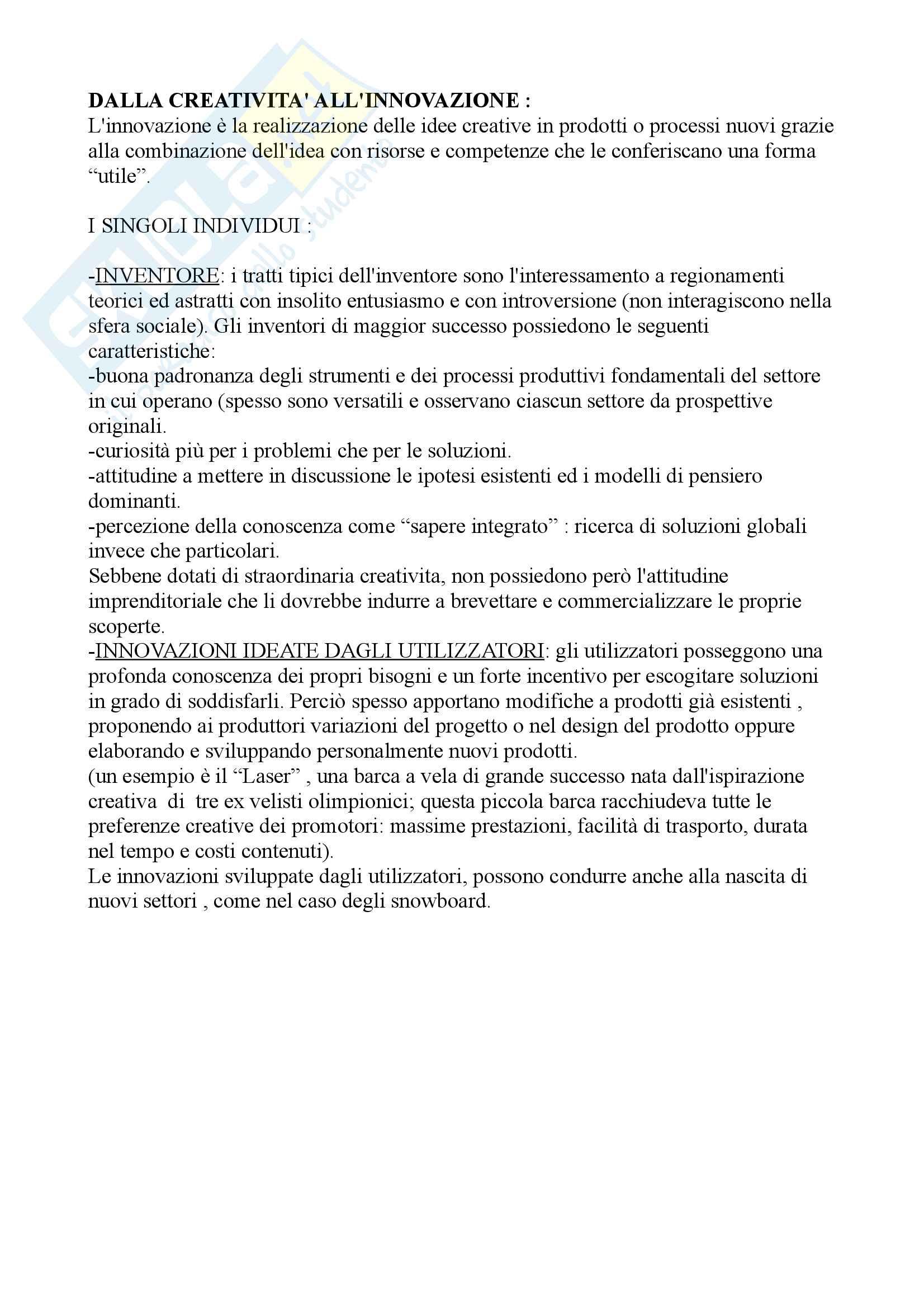Management dell'innovazione tecnologica Pag. 6