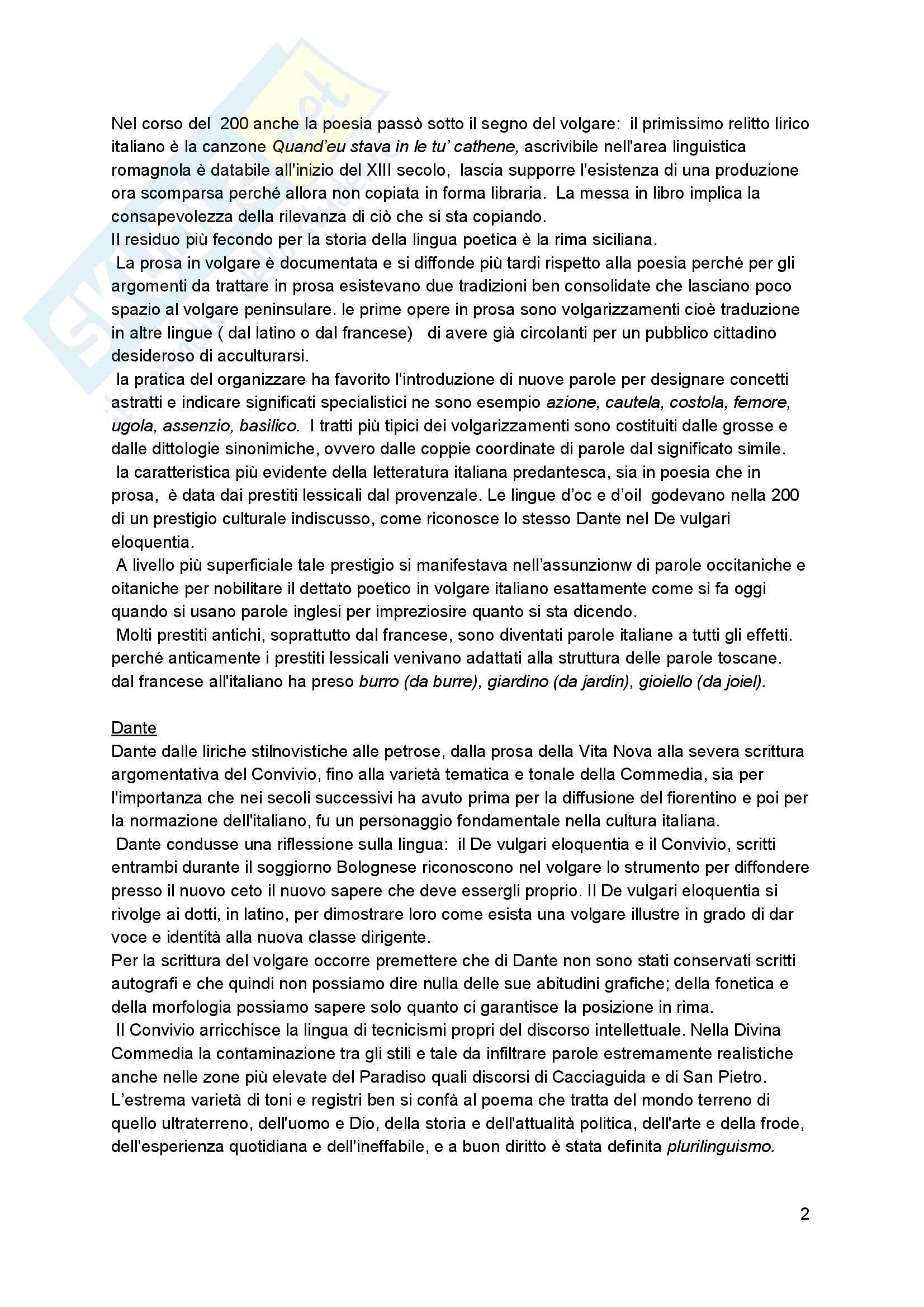 Riassunto esame linguistica italiana, Prof. Claudio Giovanardi e prof Paolo D'Achille, libro consigliato Storia dell'Italiano, Autore Roberta Cella Pag. 2