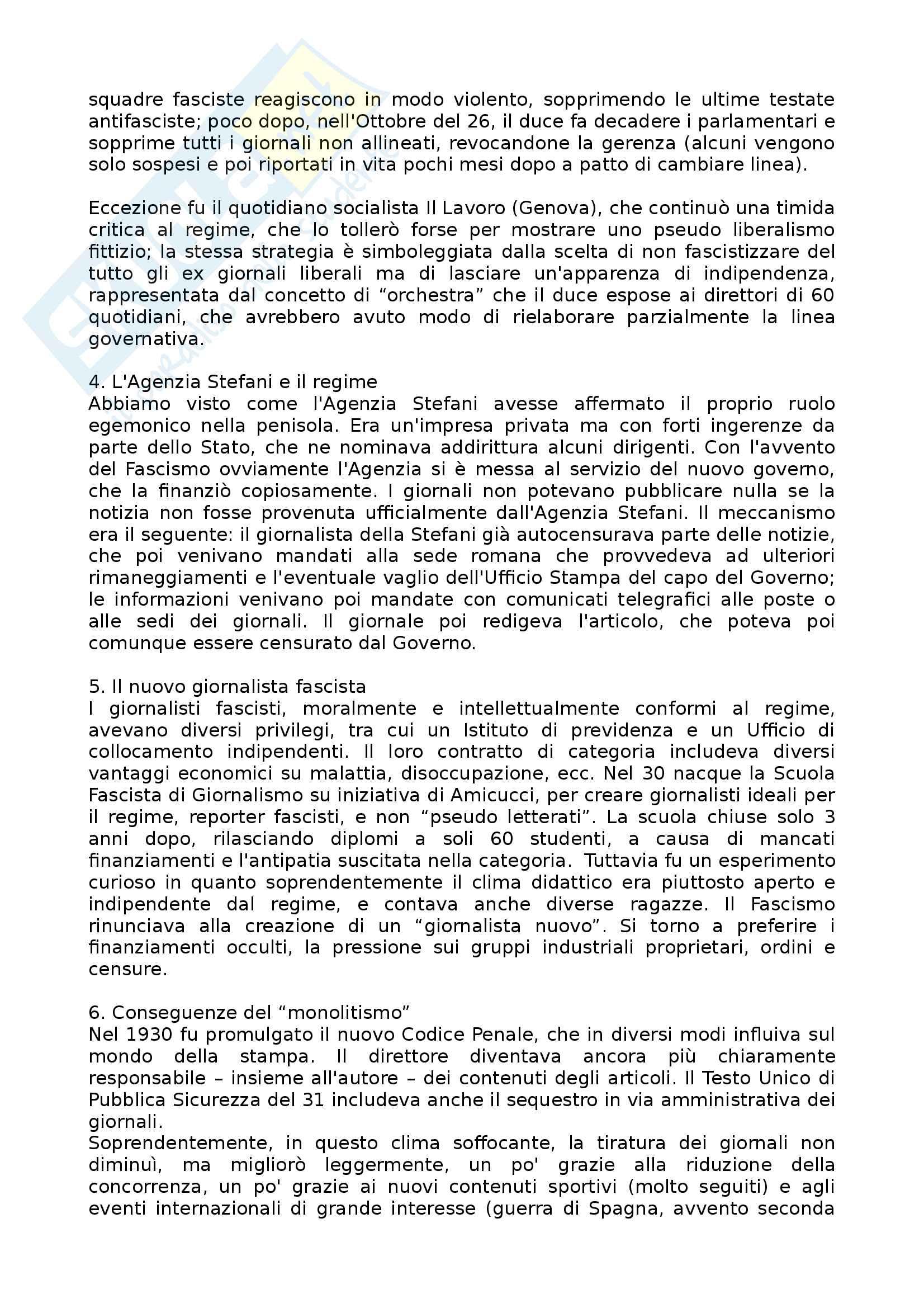 Riassunto esame Storia Del Giornalismo, Docente Benadusi, testo consigliato Informazione e potere, Mauro Forno Pag. 11