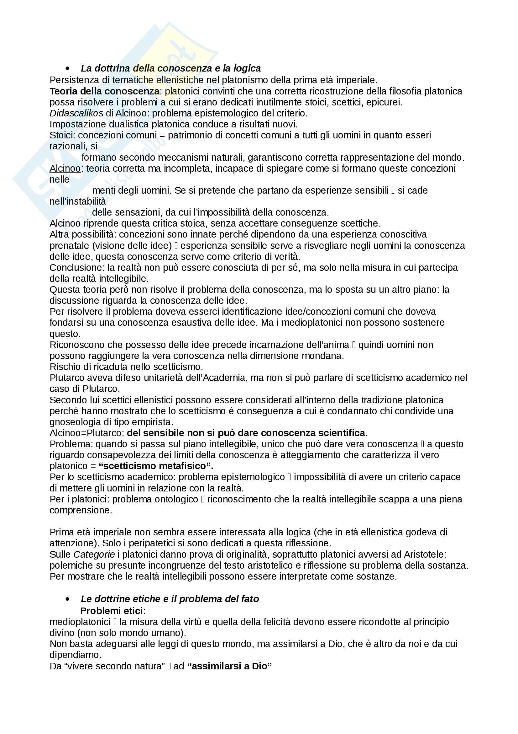 Riassunto esame storia della filosofia antica, prof Bonazzi, libro consigliato Il platonismo, Mauro Bonazzi Pag. 16