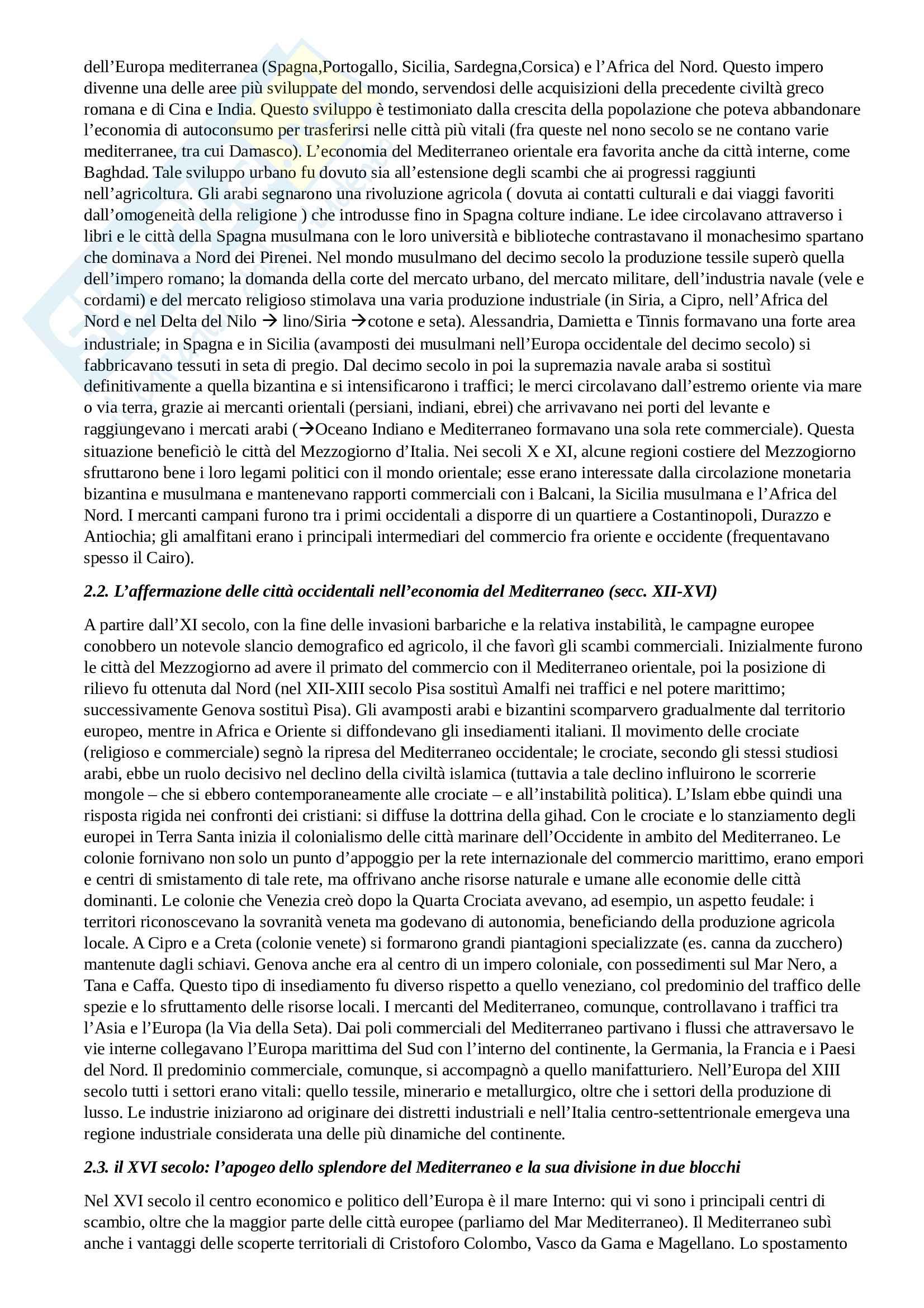 Riassunto esame Geografia Politica del Mediterrano, prof.Viganoni, libro consigliato Il Mediterrano.Geografia della complessità, Fuschi Pag. 2