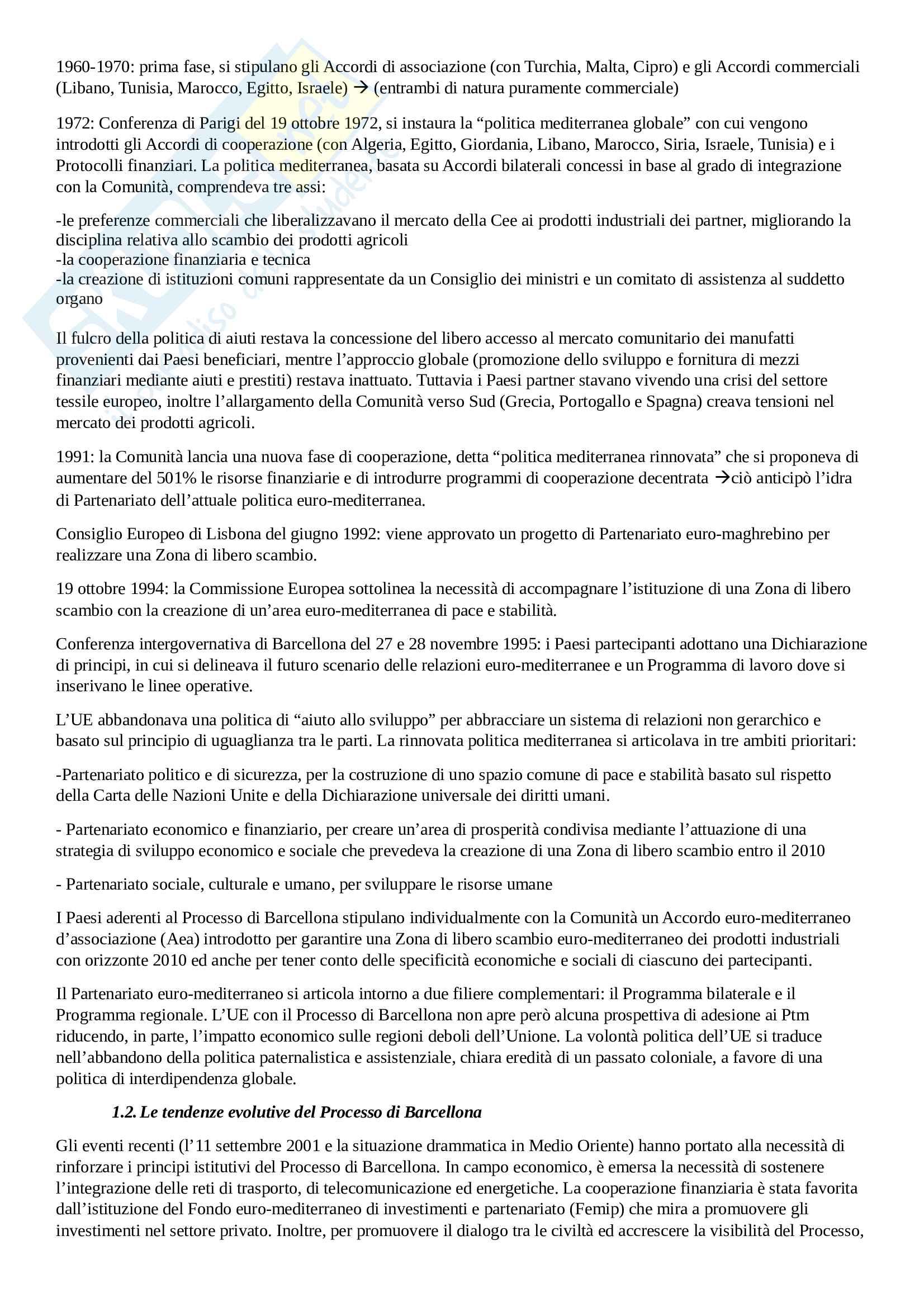 Riassunto esame Geografia Politica del Mediterrano, prof.Viganoni, libro consigliato Il Mediterrano.Geografia della complessità, Fuschi Pag. 31