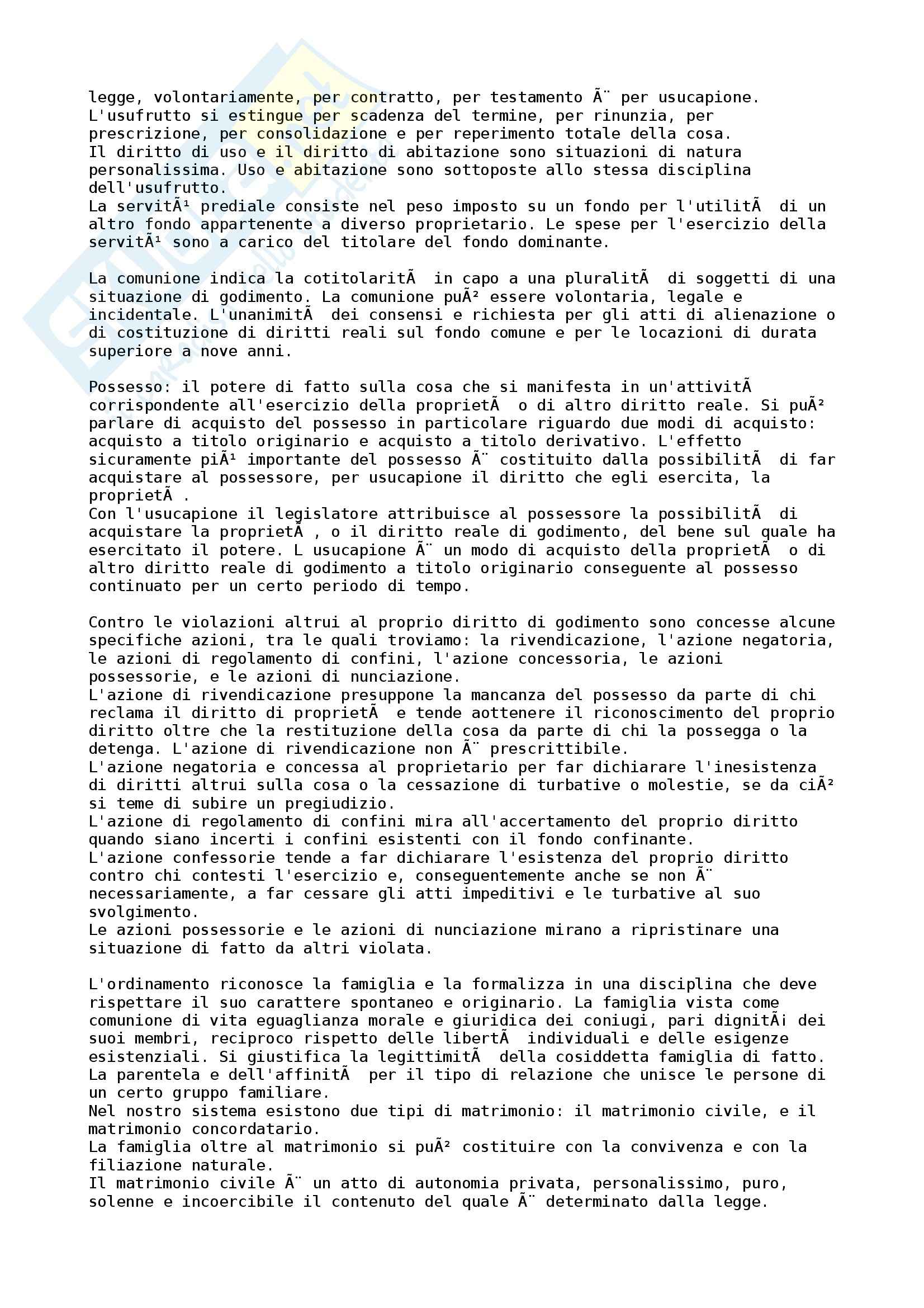 Riassunto esame Diritto privato, prof. Ruscello Pag. 6