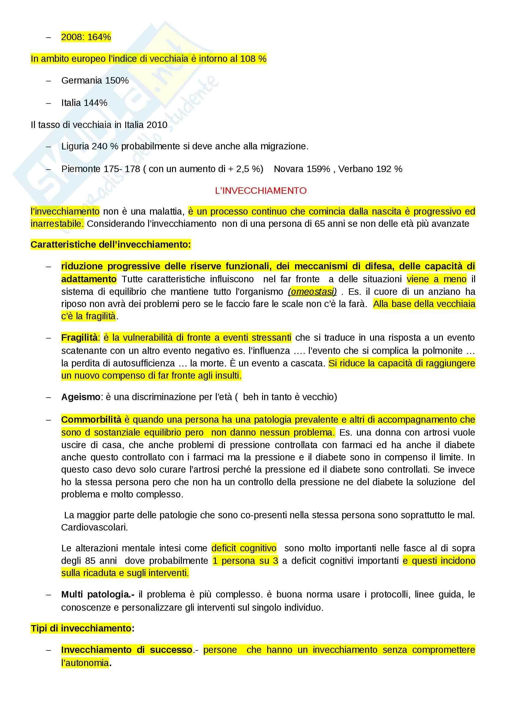 Geriatria - Appunti Pag. 2
