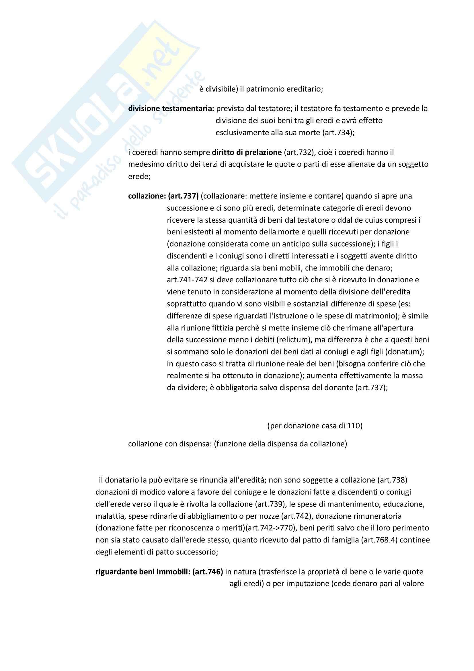 Successioni e donazioni, Diritto privato Pag. 6