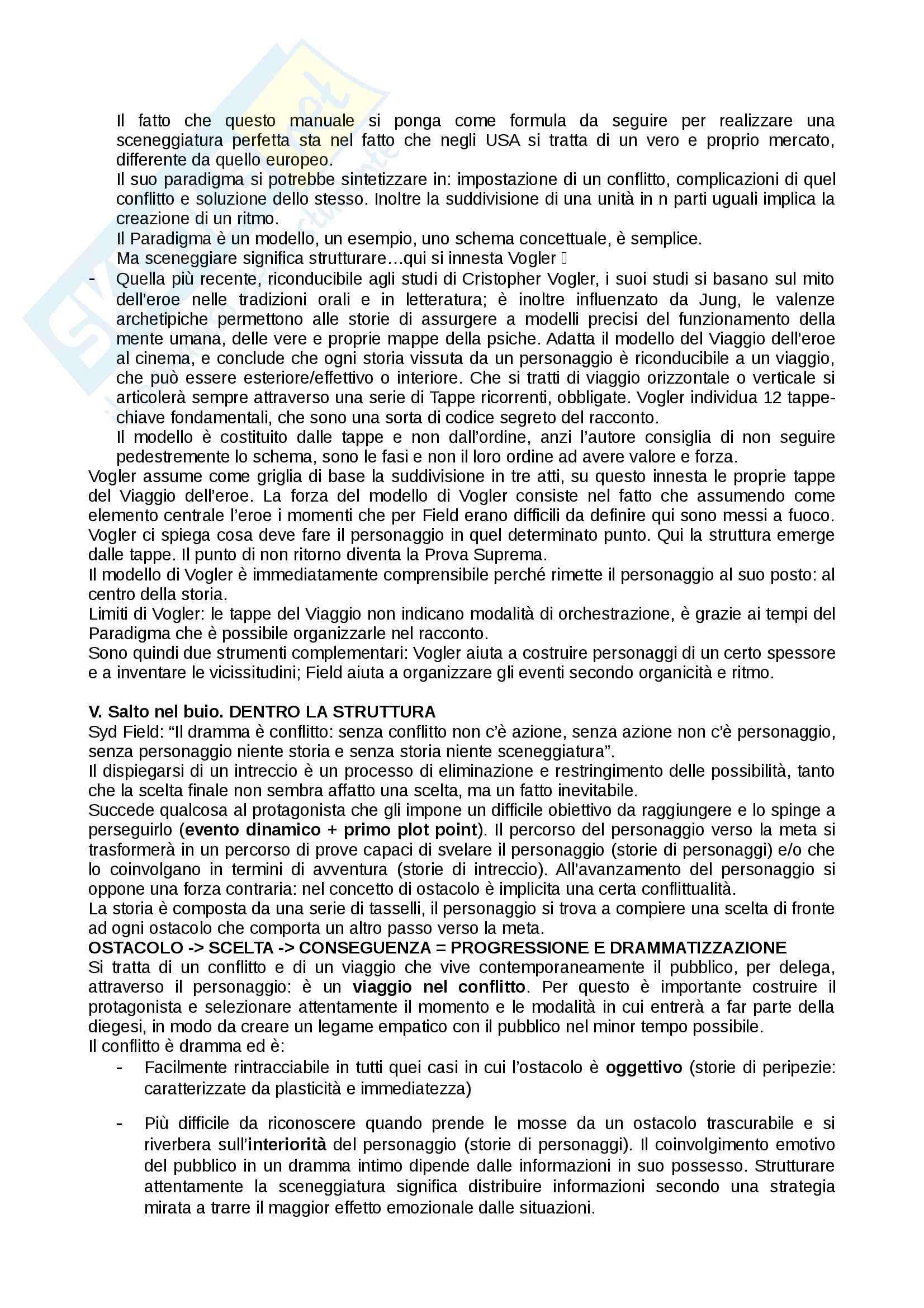 Riassunto esame Laboratorio di lettura e scrittura, prof. Masotina, libro consigliato Manuale di sceneggiatura, Aimeri Pag. 6
