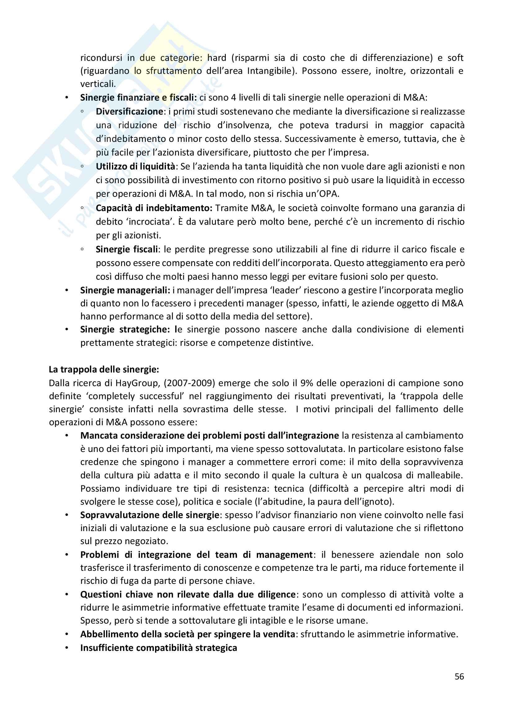Riassunto esame Corporate Finance, prof. Miglietta-Schiesari Pag. 56