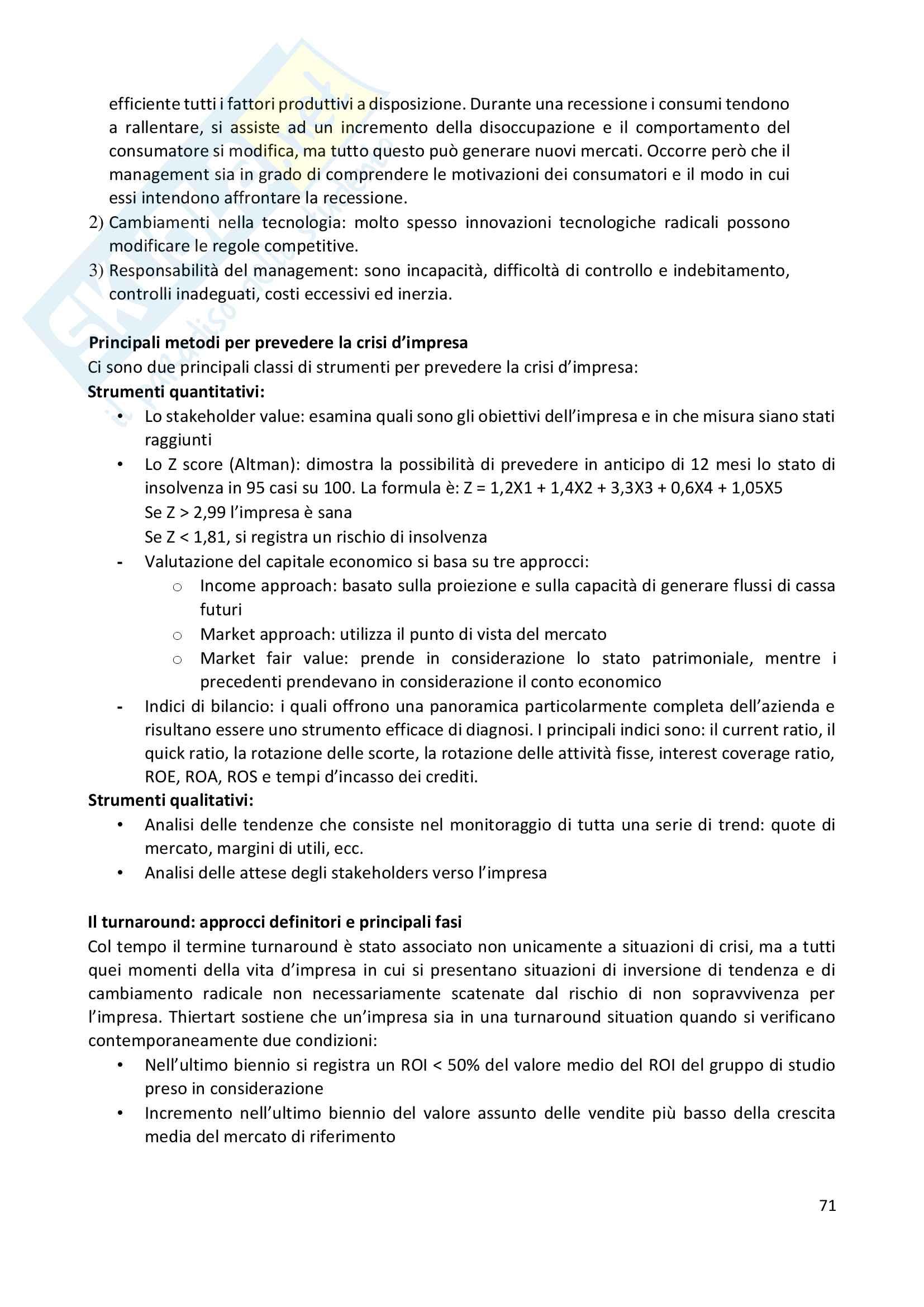 Riassunto esame Corporate Finance, prof. Miglietta-Schiesari Pag. 71