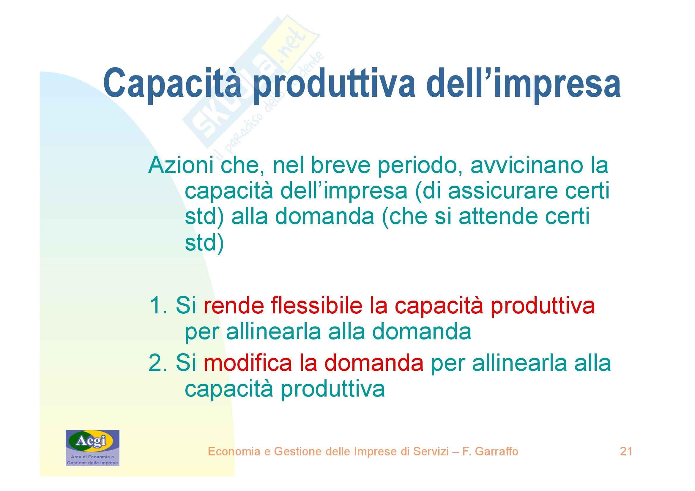 Economia e gestione delle imprese di servizi - nozioni generali Pag. 21