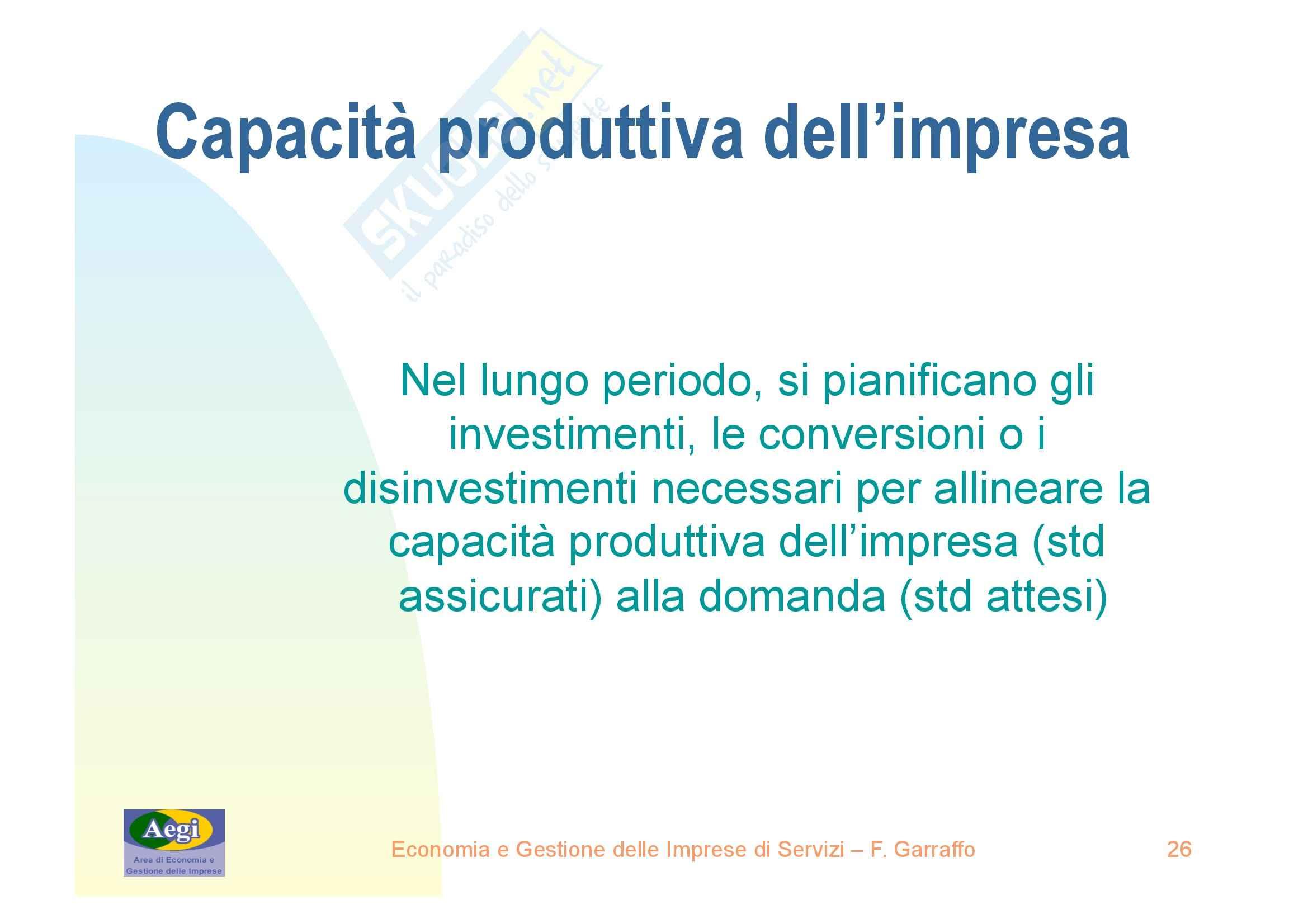 Economia e gestione delle imprese di servizi - nozioni generali Pag. 26