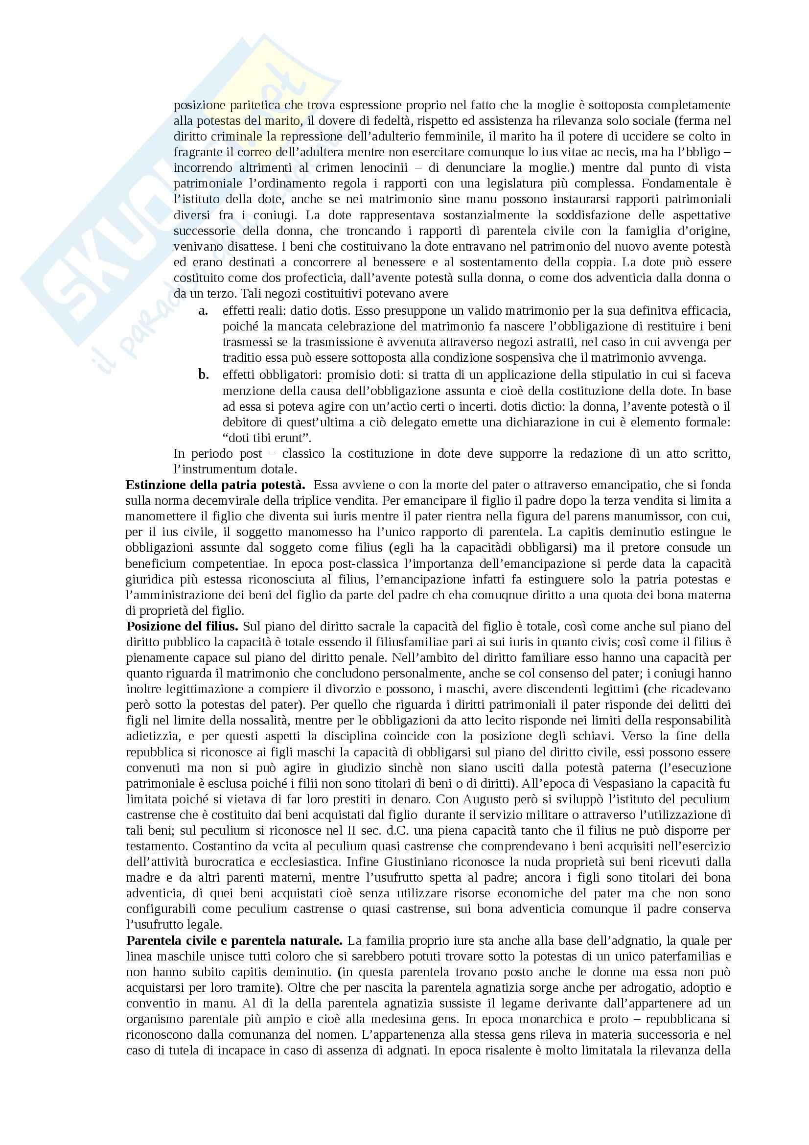 Riassunto esame Istituzioni di diritto romano, prof. Miglietta, libro consigliato Istituzioni di diritto romano, Talamanca Pag. 11