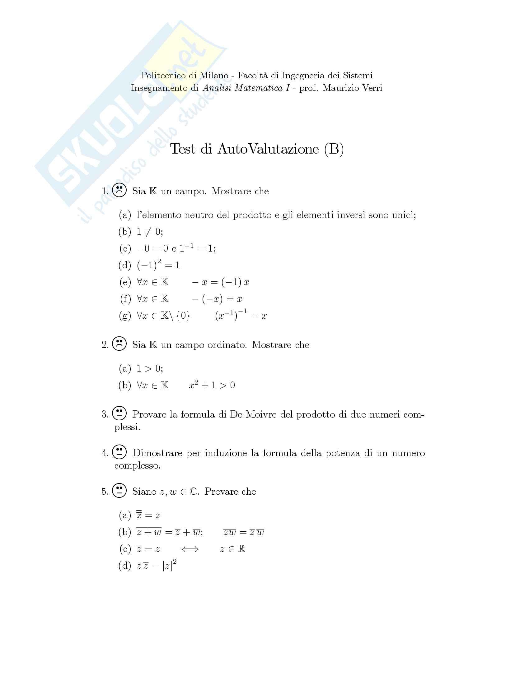 Analisi Matematica - Temi d'Esame svolti Pag. 1