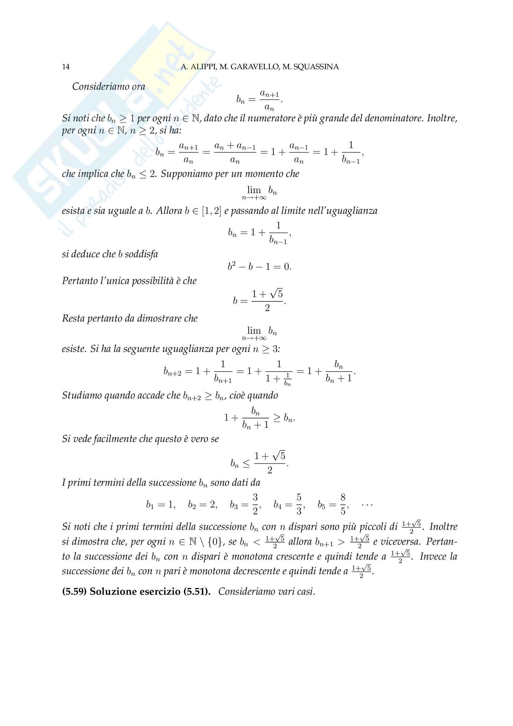 Analisi Matematica - Temi d'Esame svolti Pag. 46