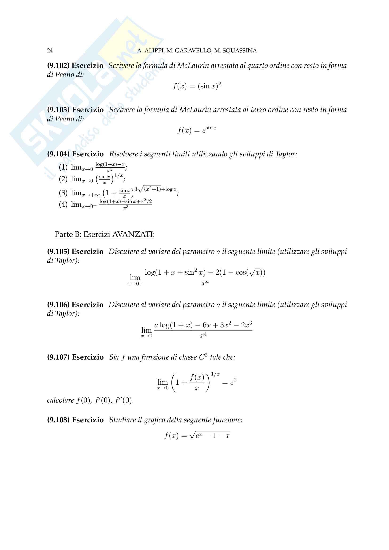 Analisi Matematica - Temi d'Esame svolti Pag. 56
